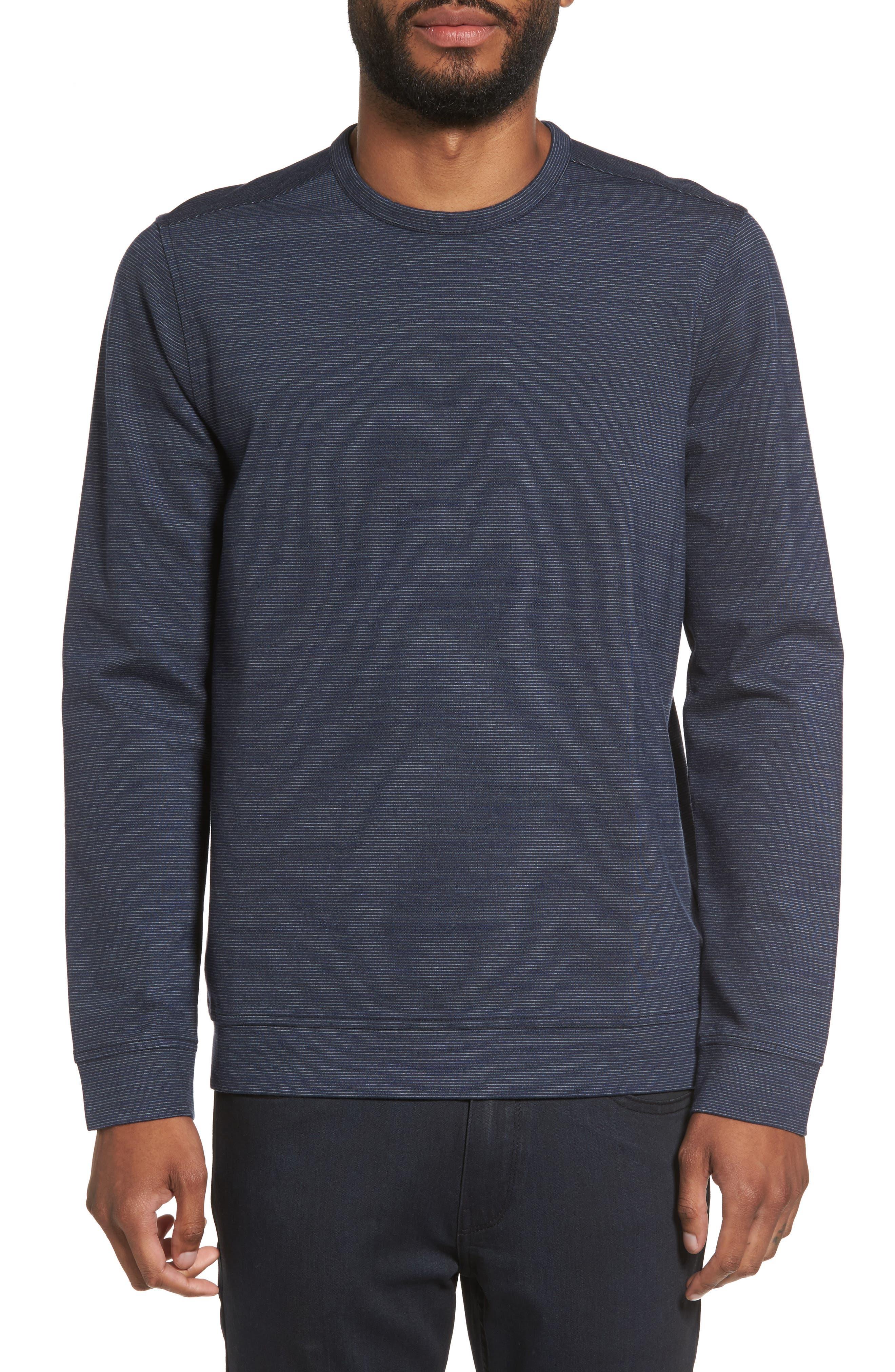 Space Dye Stripe Sweatshirt,                         Main,                         color, Navy Night Spacedye