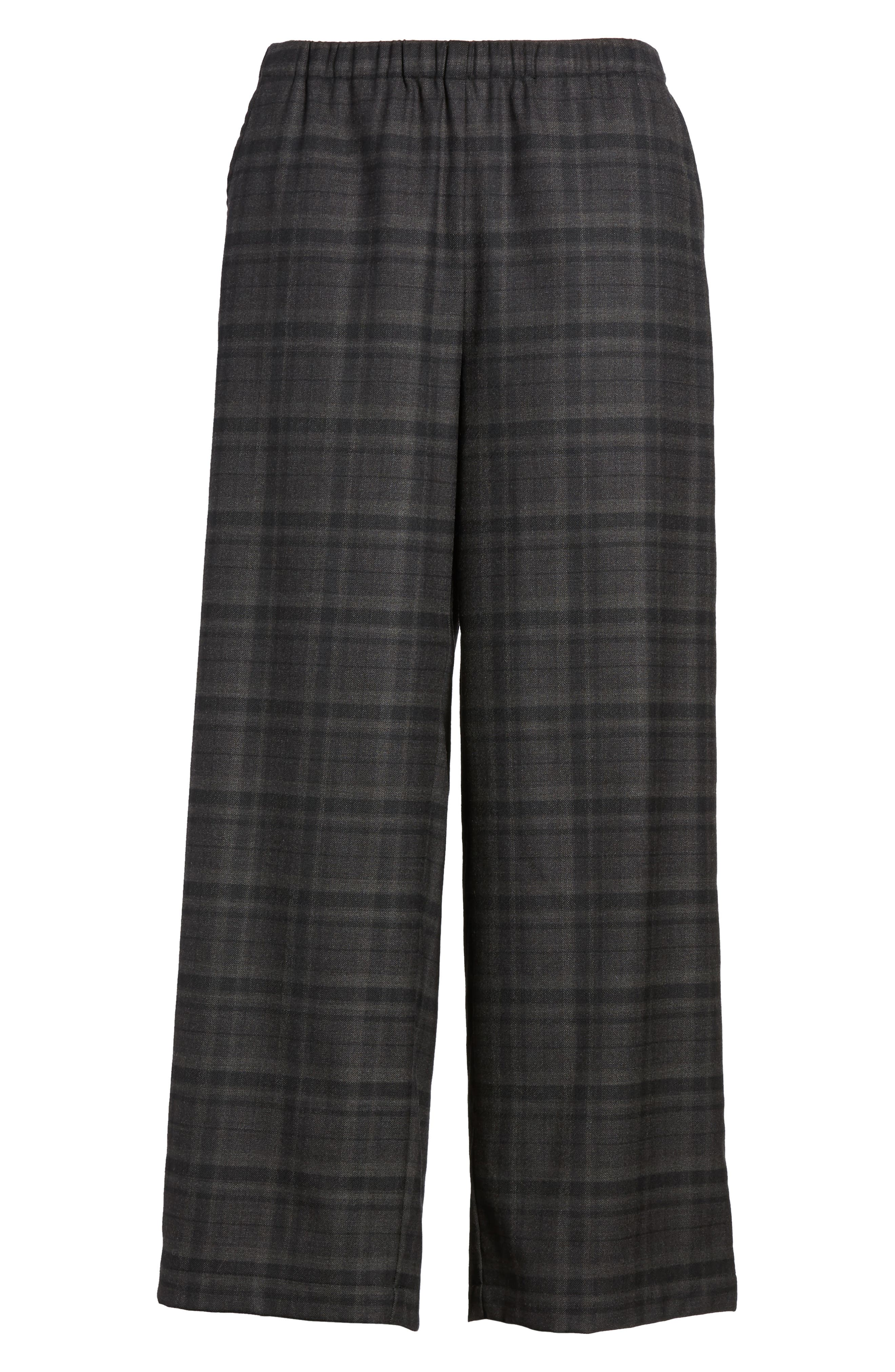 Alternate Image 6  - Eileen Fisher Wide Leg Plaid Crop Pants