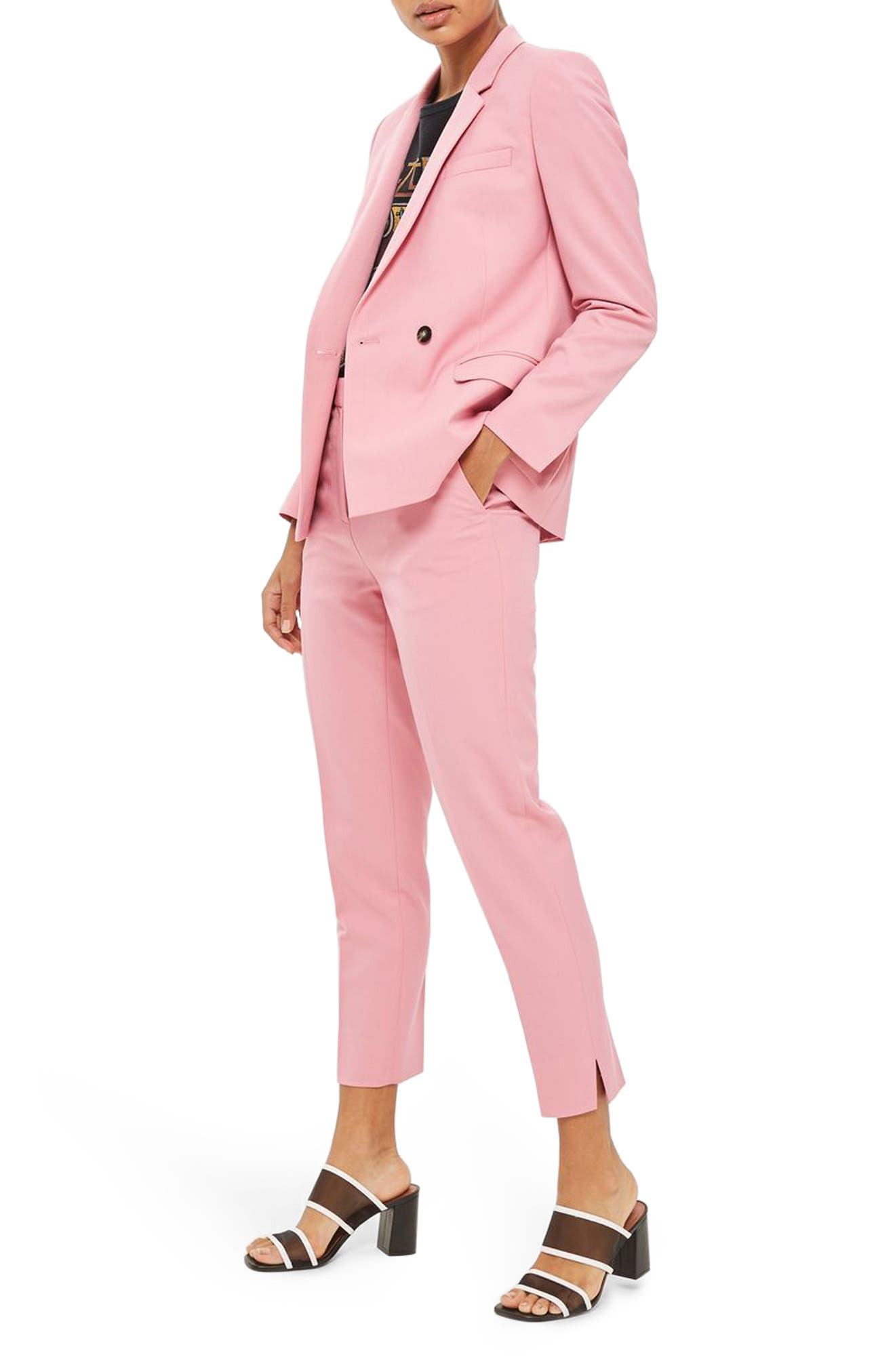 Tailored Cigarette Trousers,                             Alternate thumbnail 2, color,                             Pink