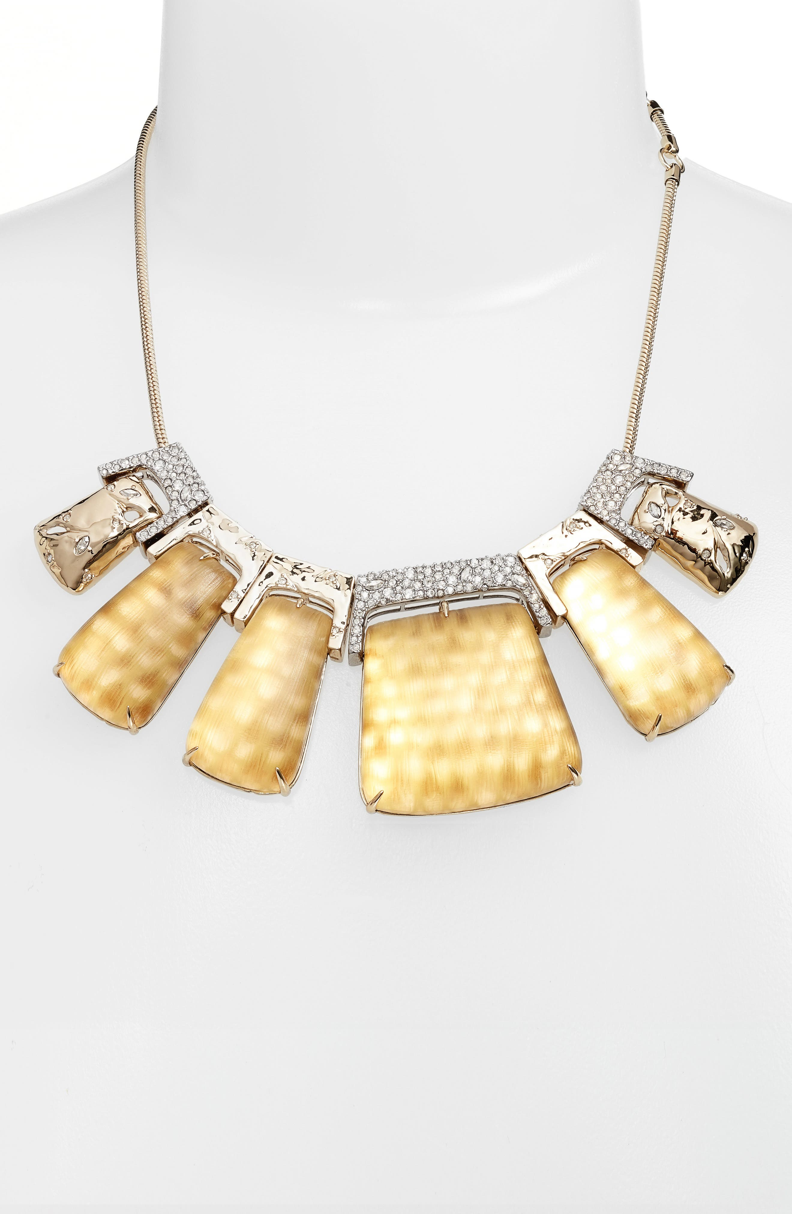 Lucite<sup>®</sup> Crystal Accent Crystal Collar Necklace,                             Alternate thumbnail 2, color,                             Gold Snake Print