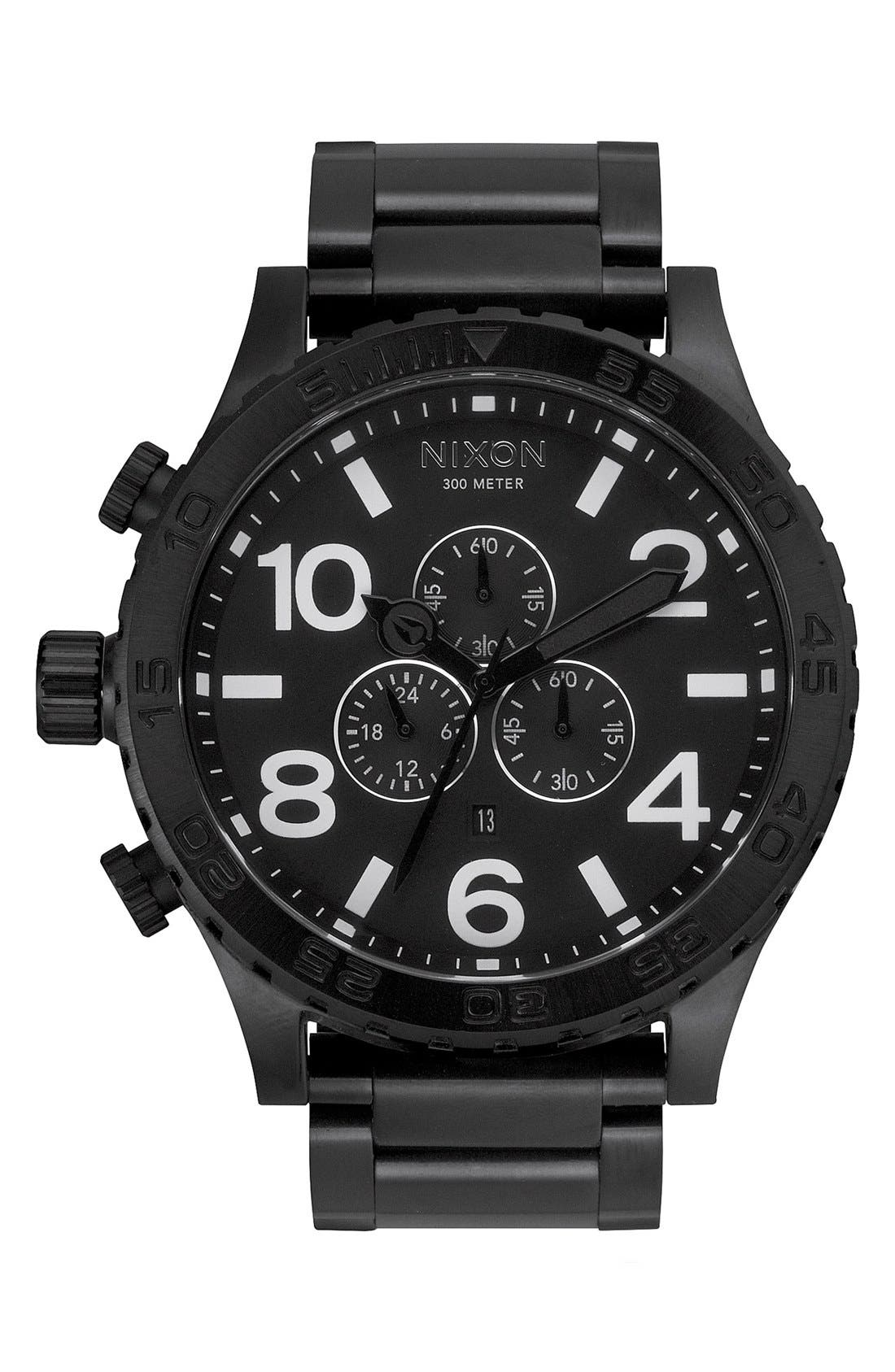 'The 51-30 Chrono' Watch, 51mm,                         Main,                         color, Black