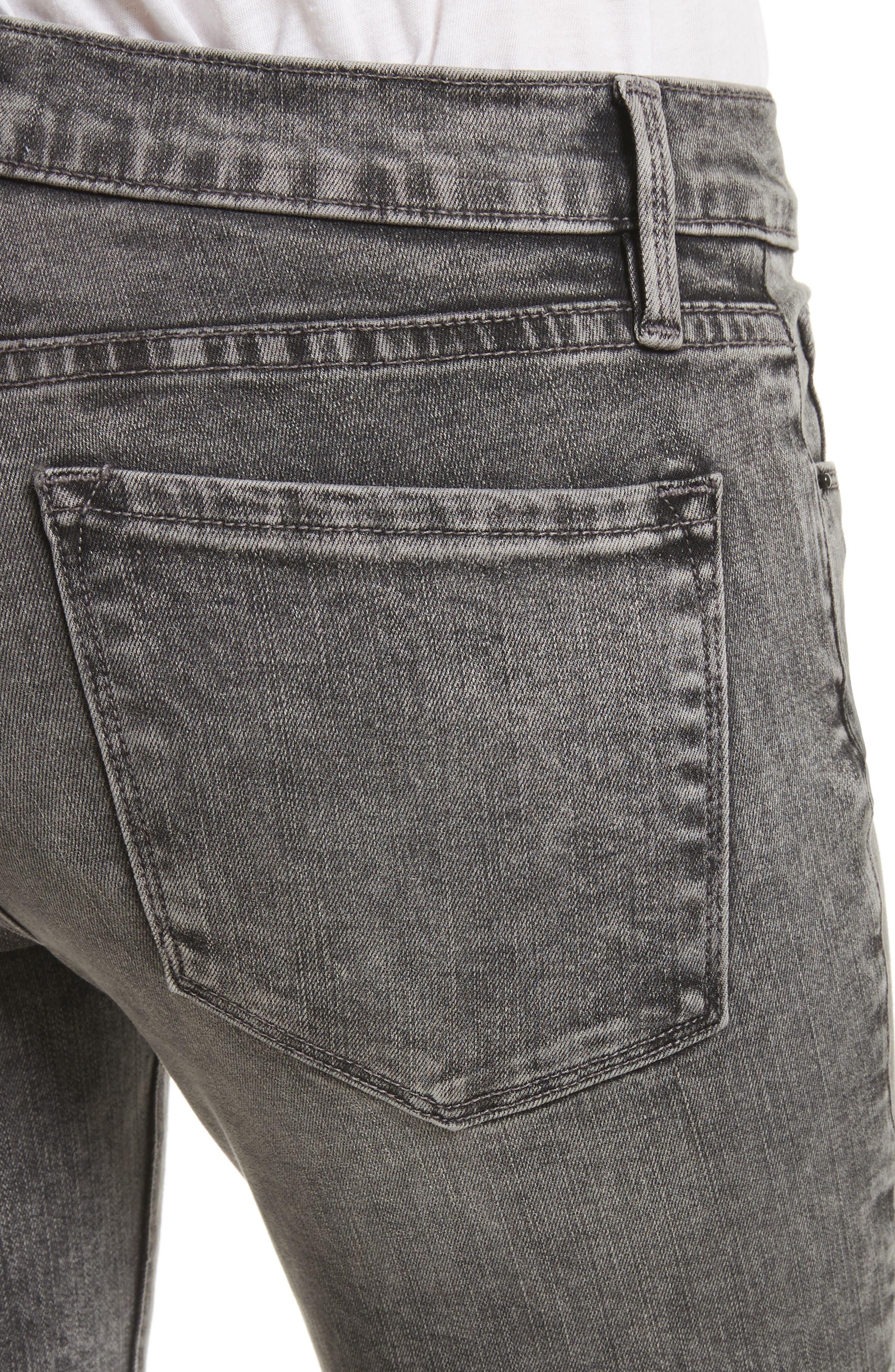 Alternate Image 5  - FRAME Le Skinny de Jeanne Raw Edge Skinny Jeans (Bennington)
