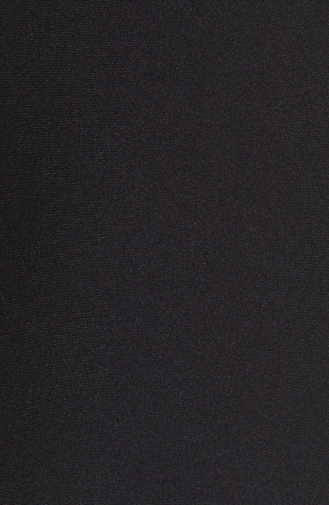Anira Bandeau Swimsuit,                             Alternate thumbnail 5, color,                             Black