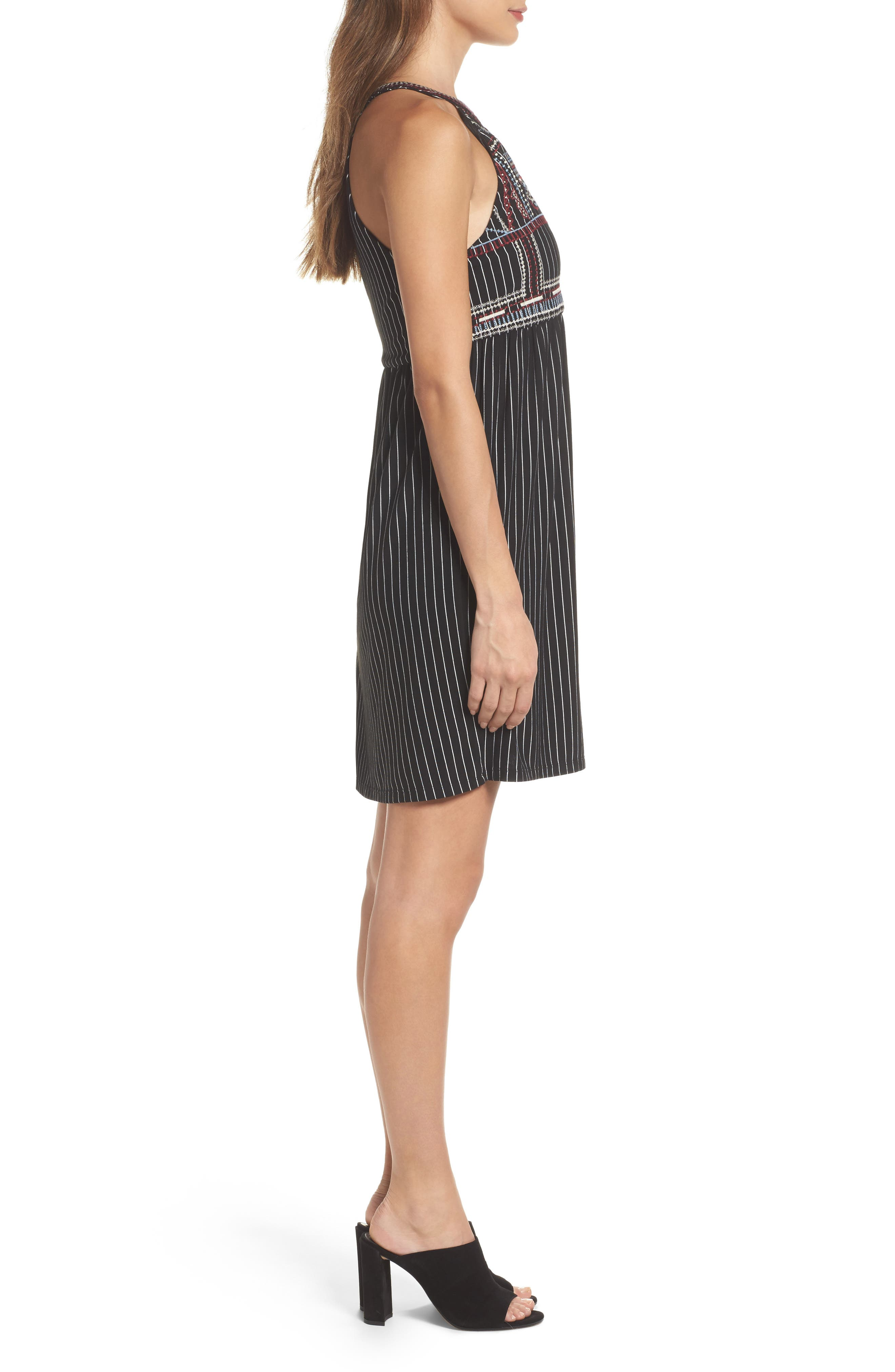 Alternate Image 3  - THML Embroidered Babydoll Dress