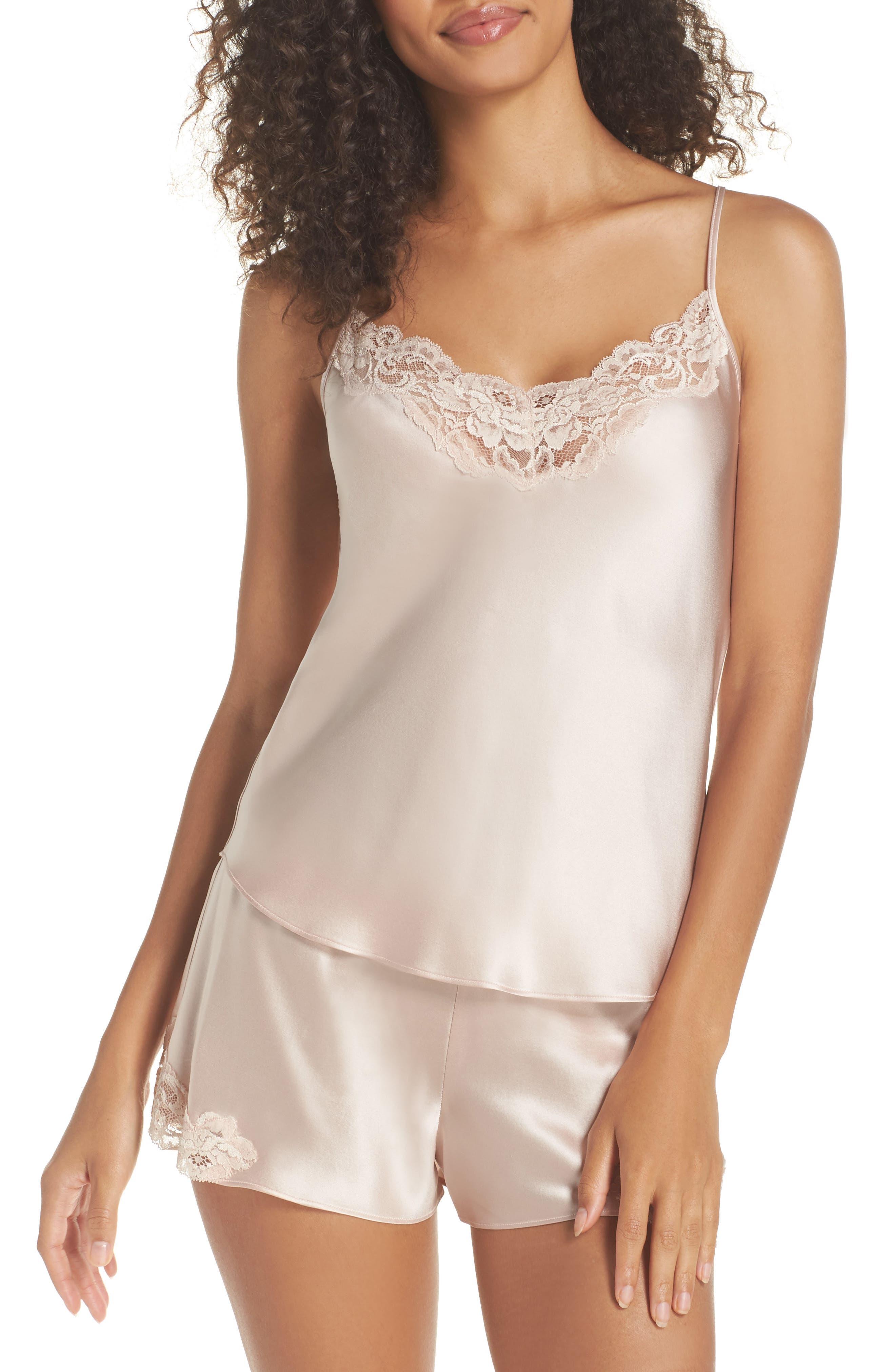 Christine Silk Pajamas,                         Main,                         color, Rose Quartz