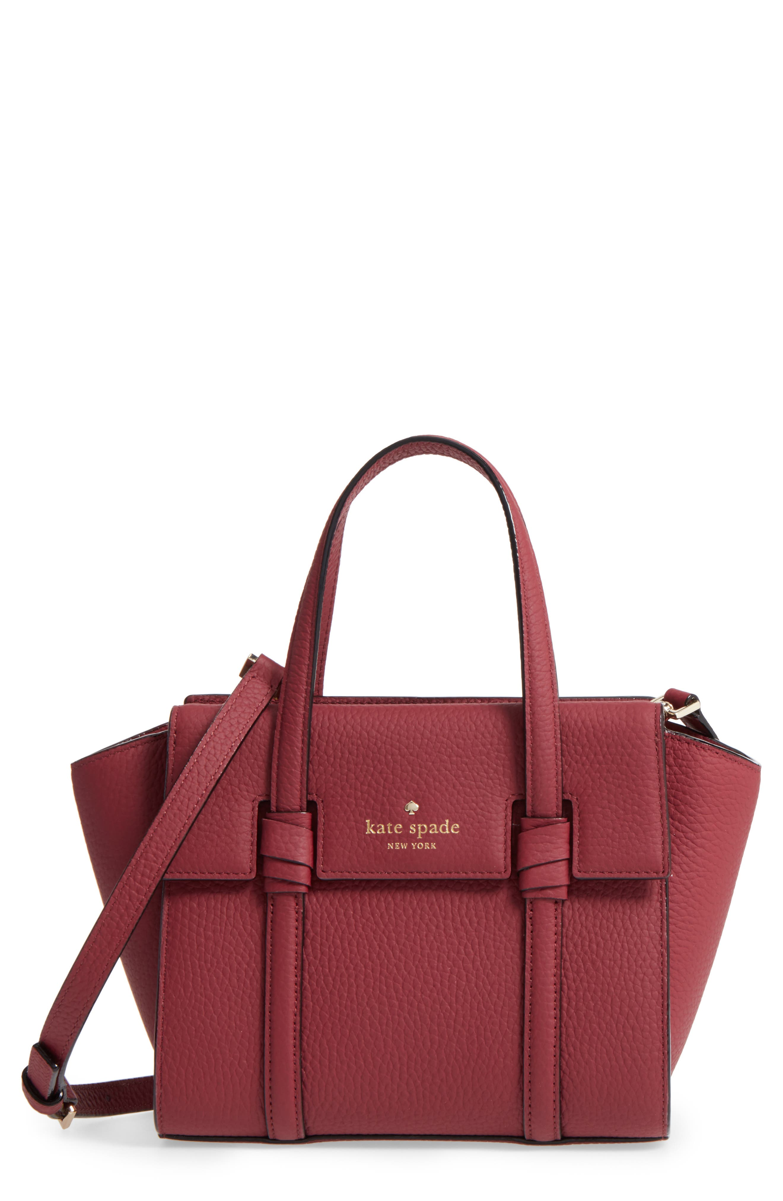 kate spade new york mini daniels drive - abigail leather satchel