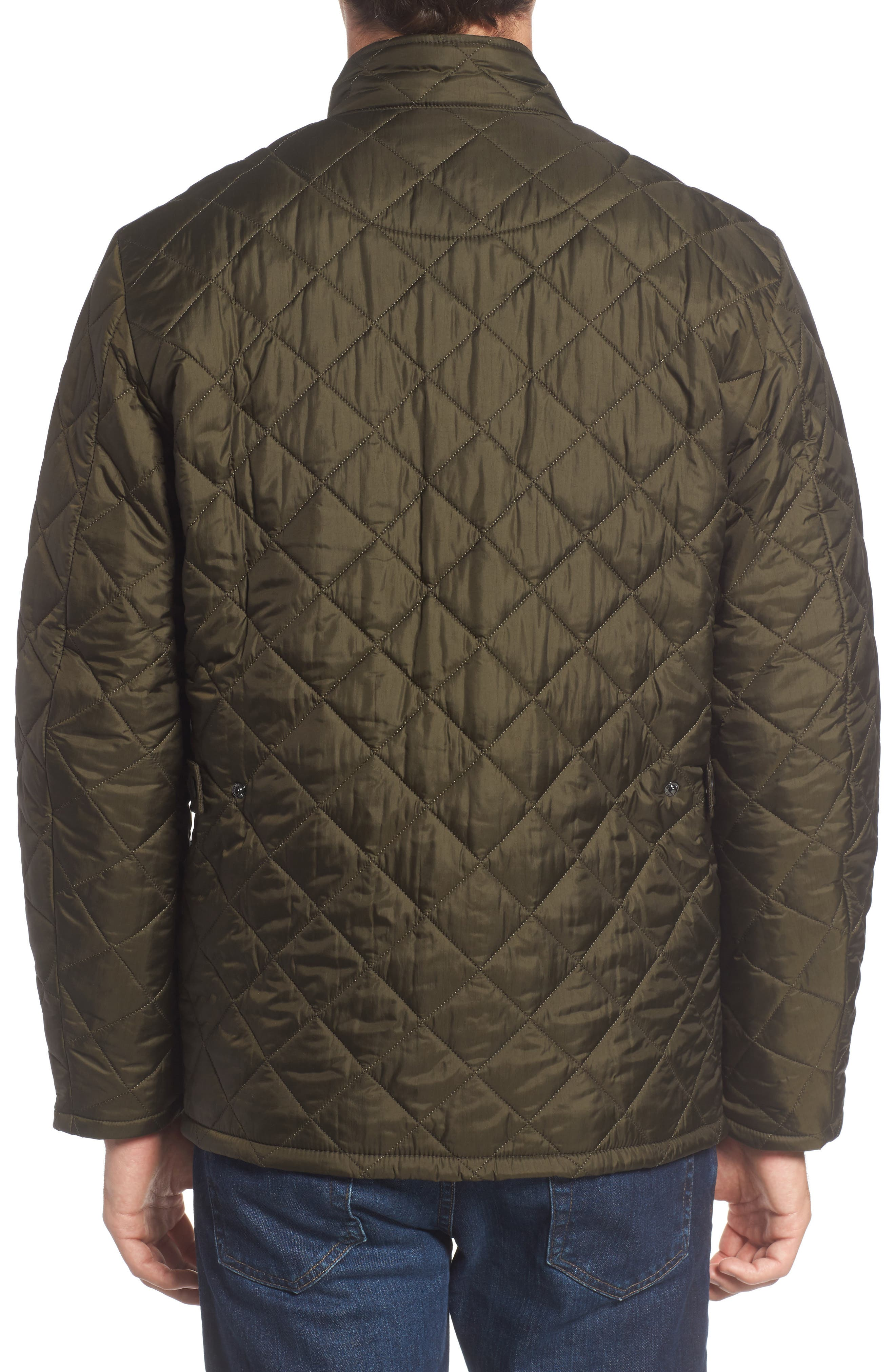 Flyweight Chelsea Quilted Jacket,                             Alternate thumbnail 2, color,                             Olive