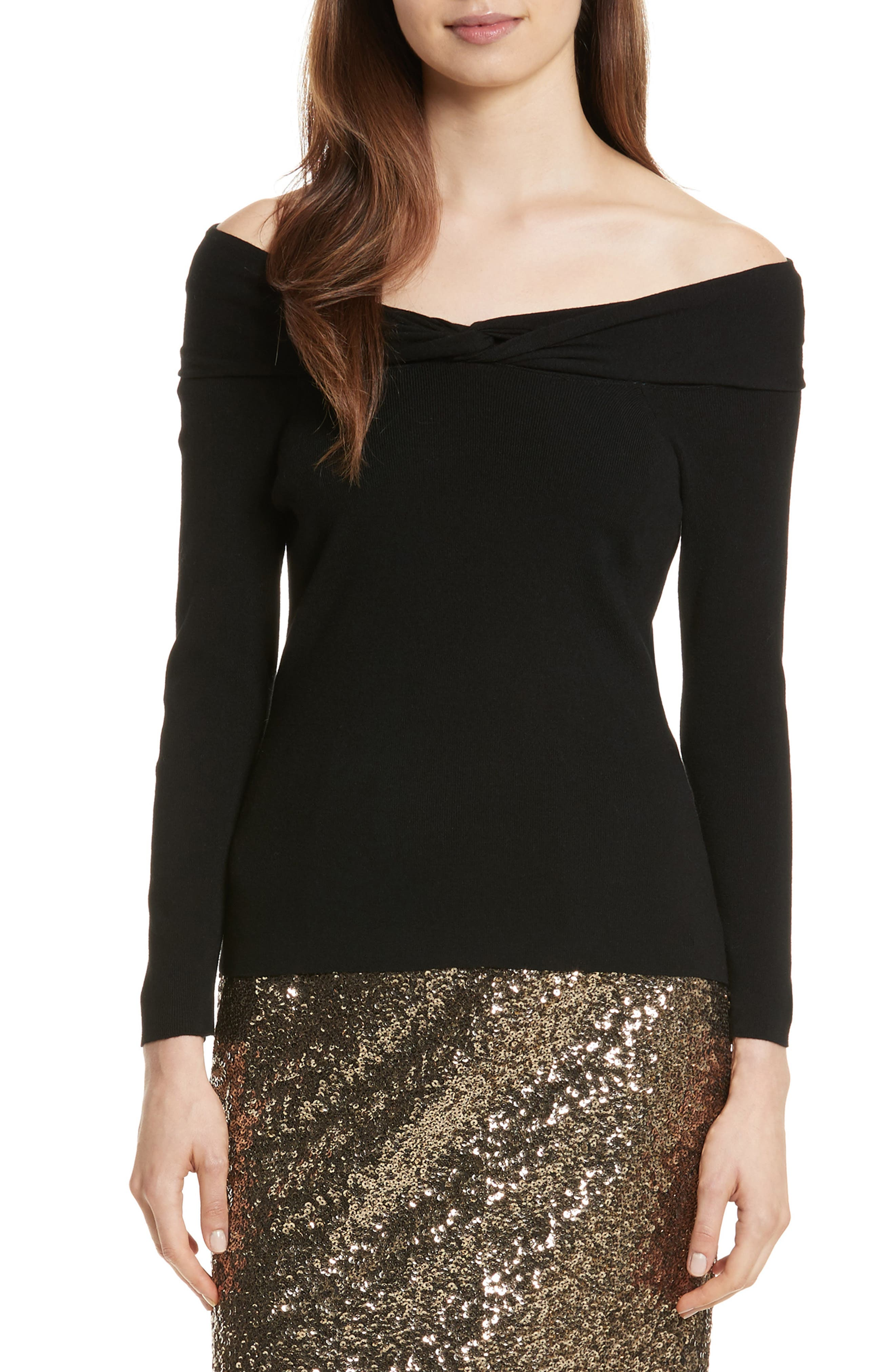 Main Image - Milly Off the Shoulder Twist Top
