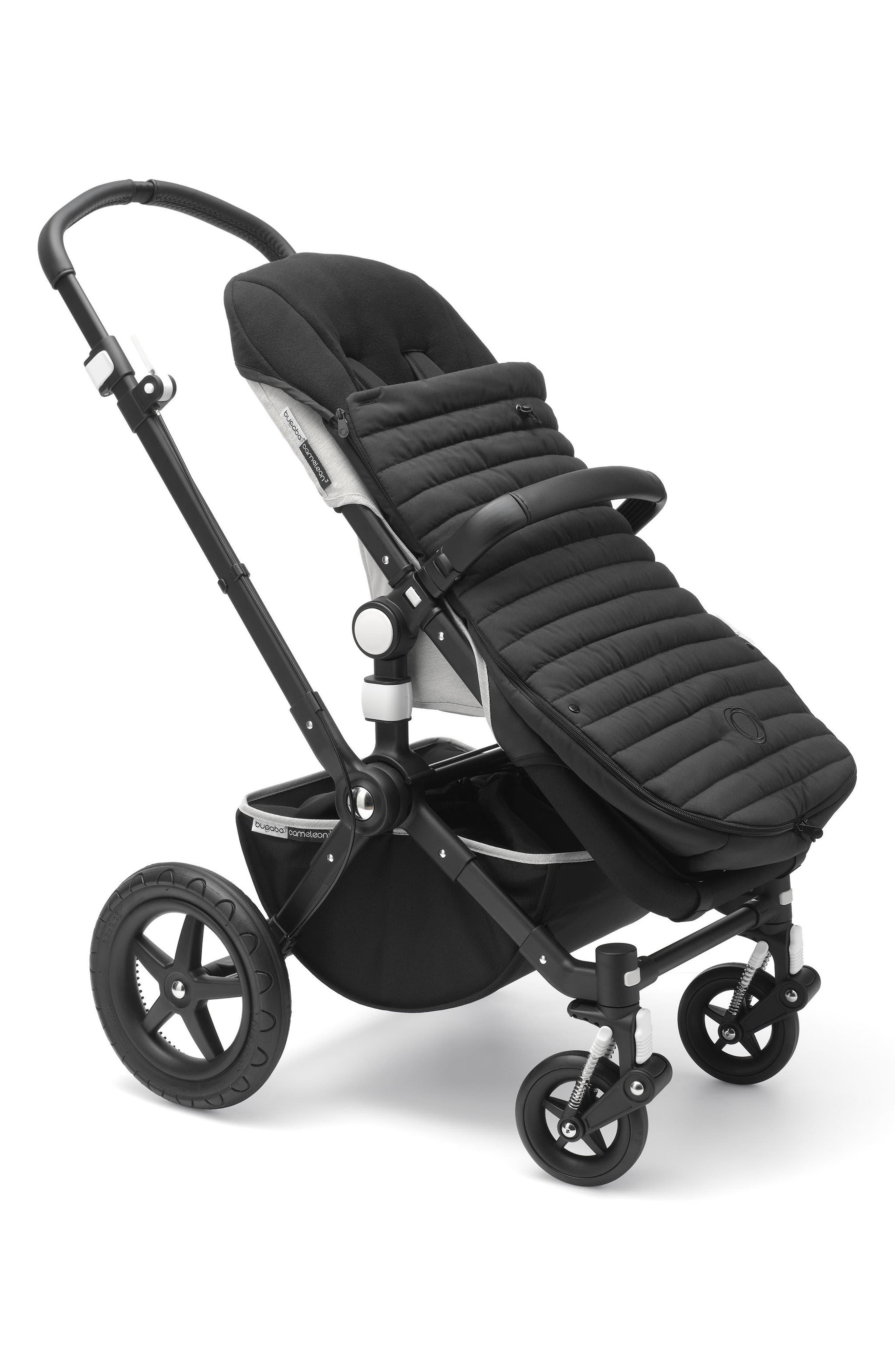 Atelier Collection Stroller Footmuff,                             Alternate thumbnail 4, color,                             Black