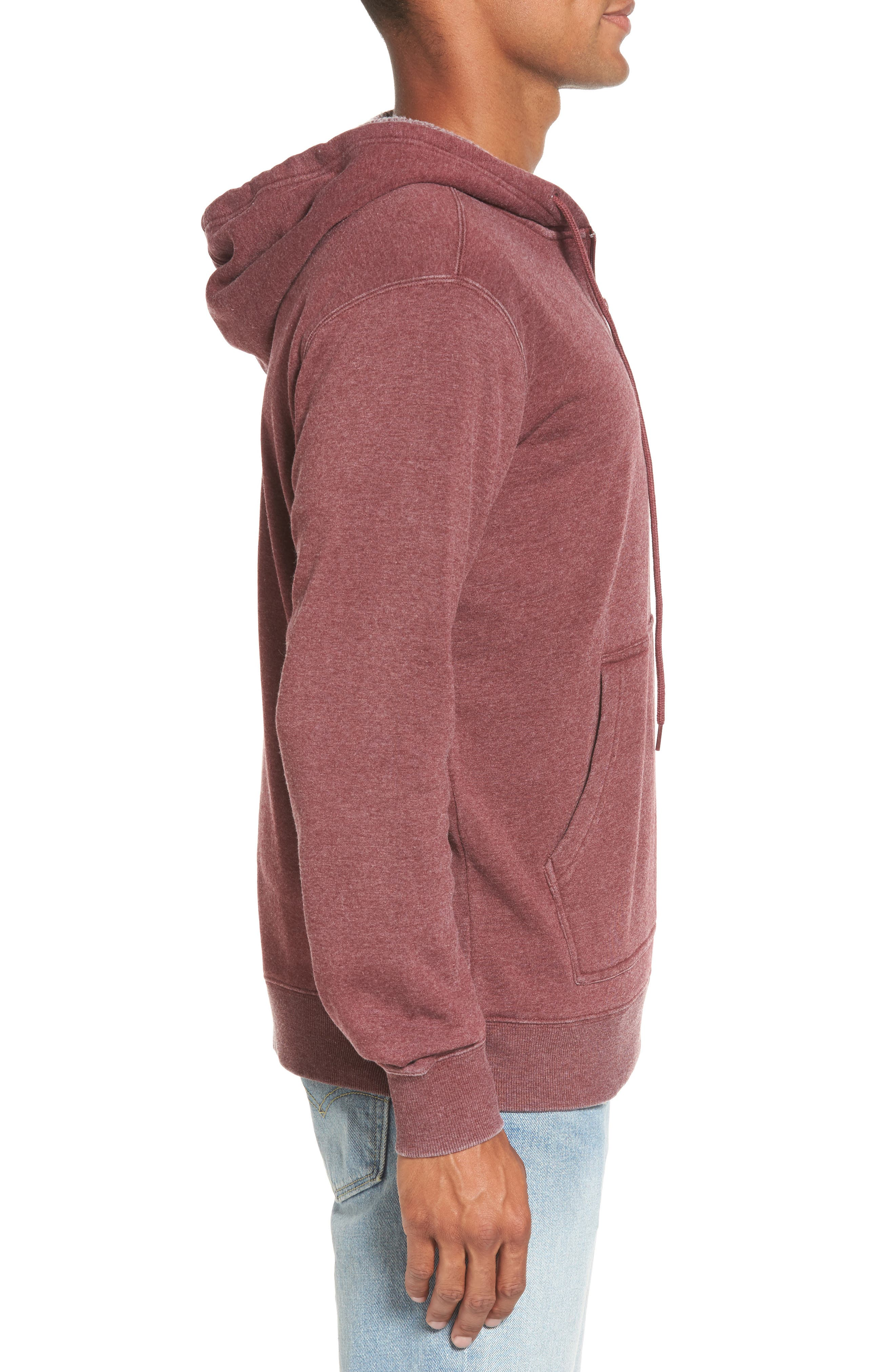 Sunwash Hoodie,                             Alternate thumbnail 3, color,                             Tawny Port
