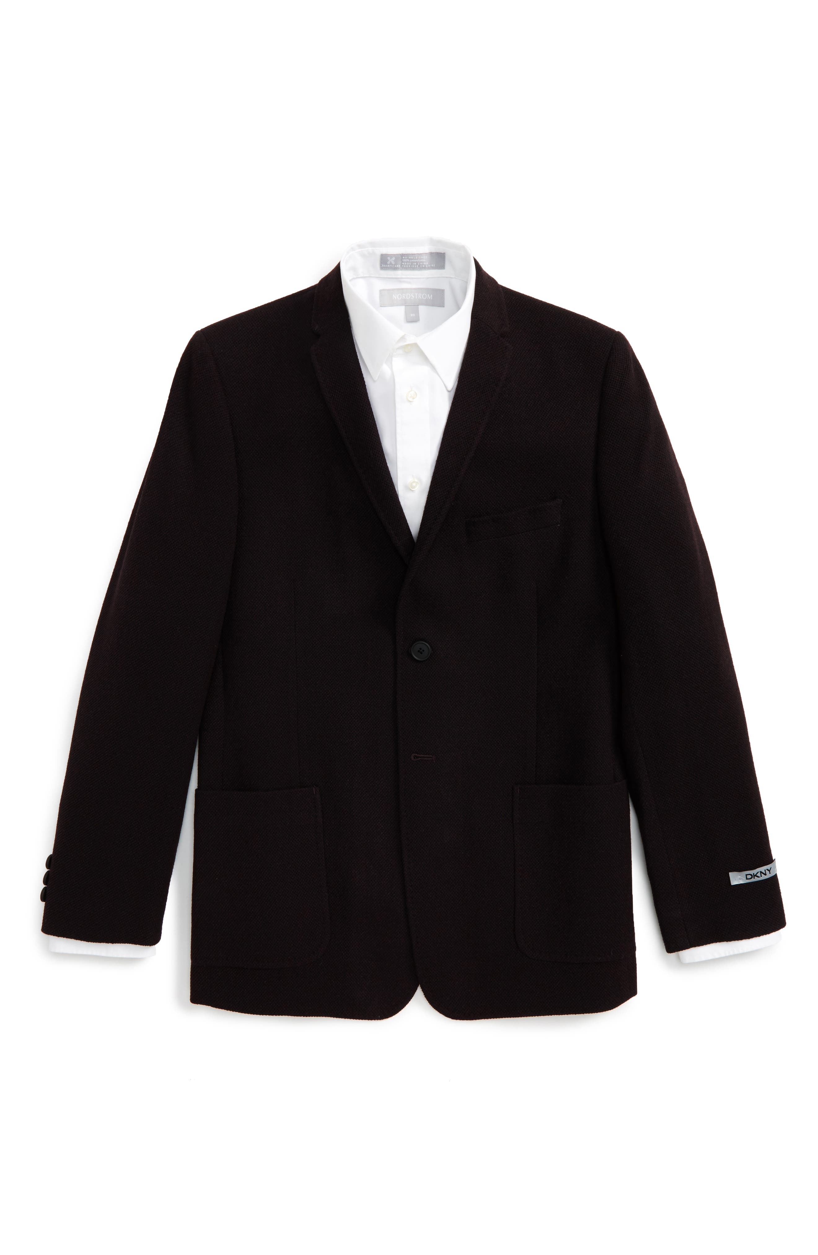 Alternate Image 1 Selected - DKNY Knit Sport Coat (Big Boys)
