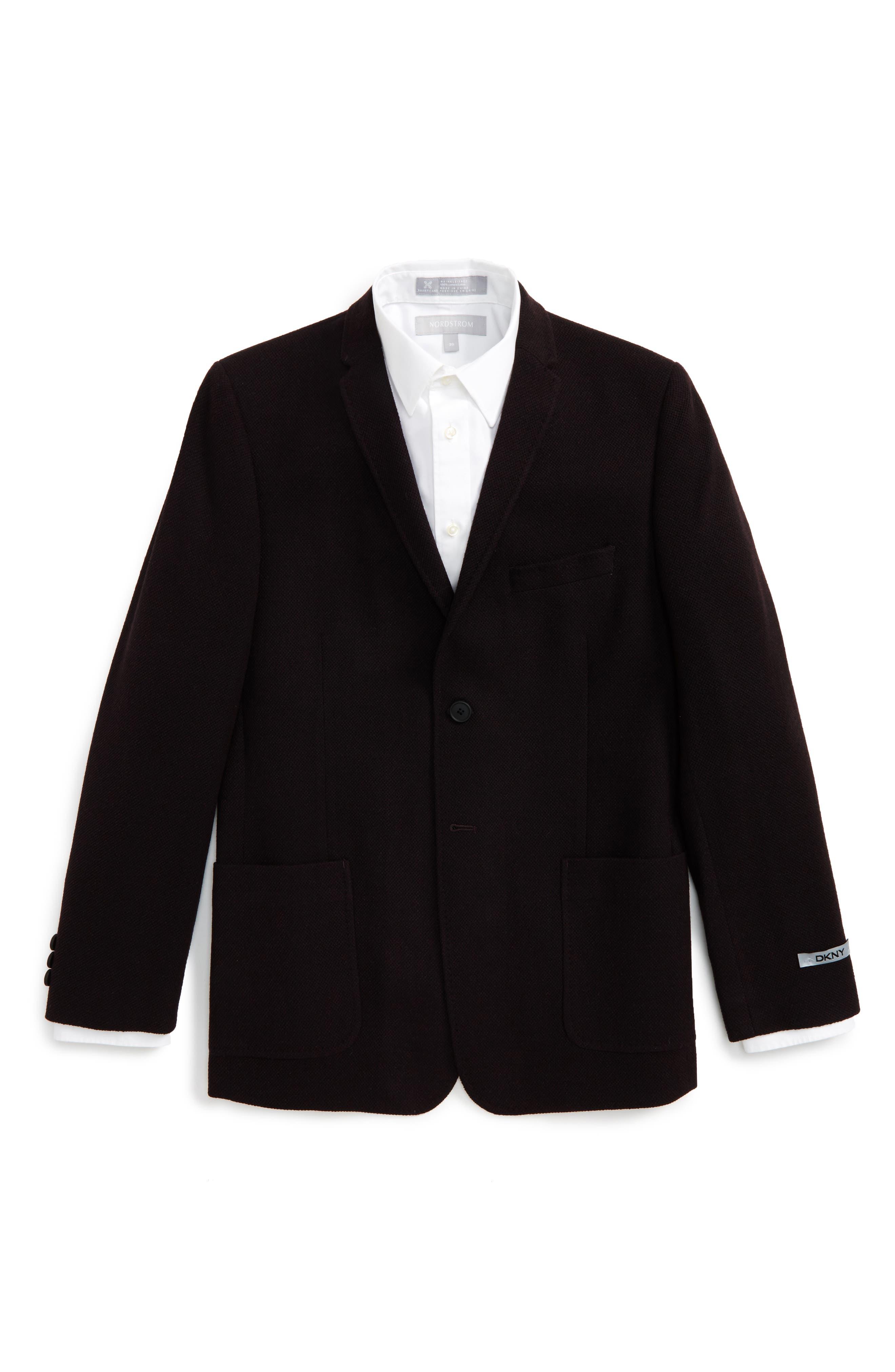Knit Sport Coat,                         Main,                         color, Burgundy