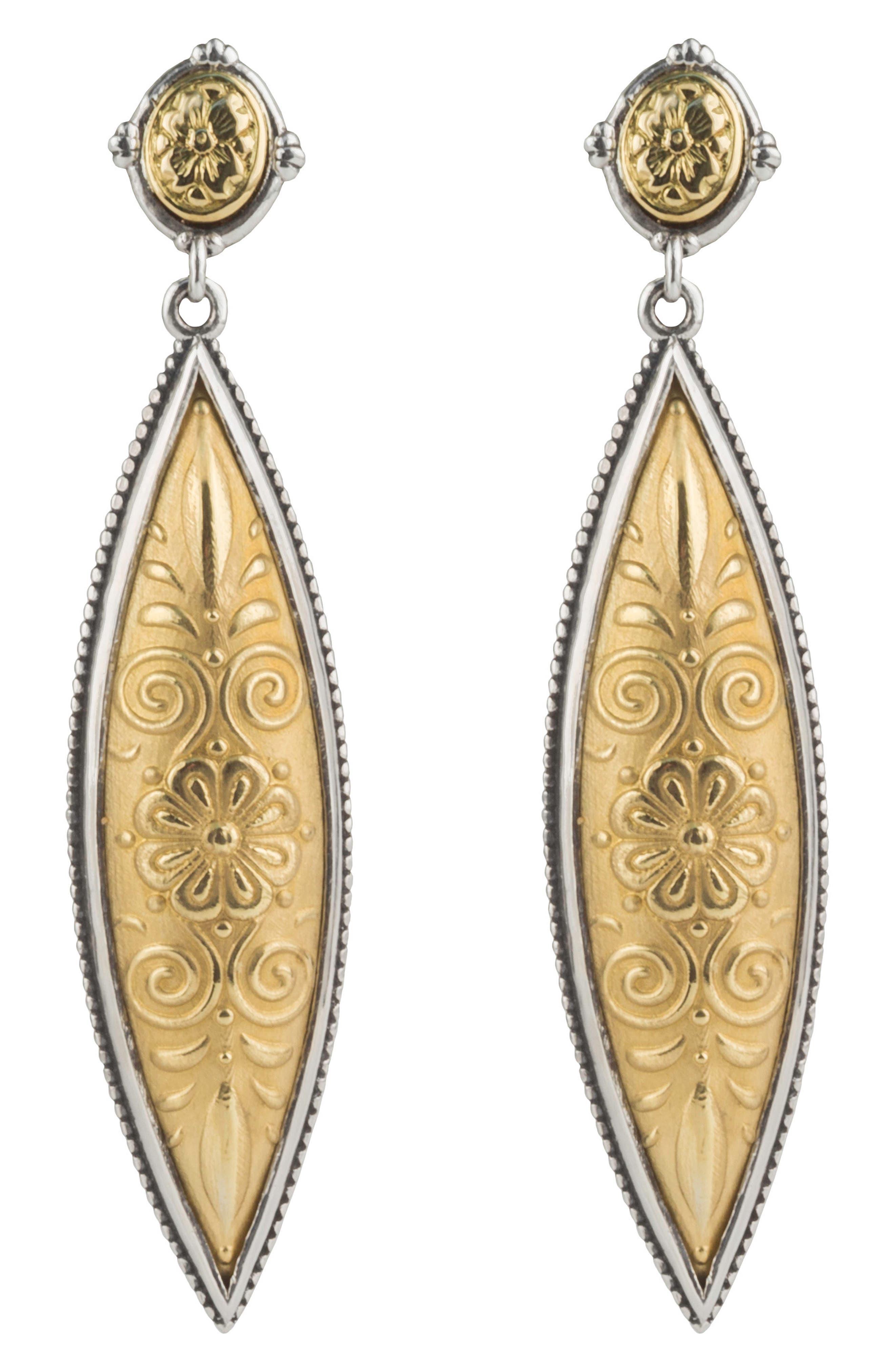 Gaia Drop Earrings,                         Main,                         color, Silver/ Gold