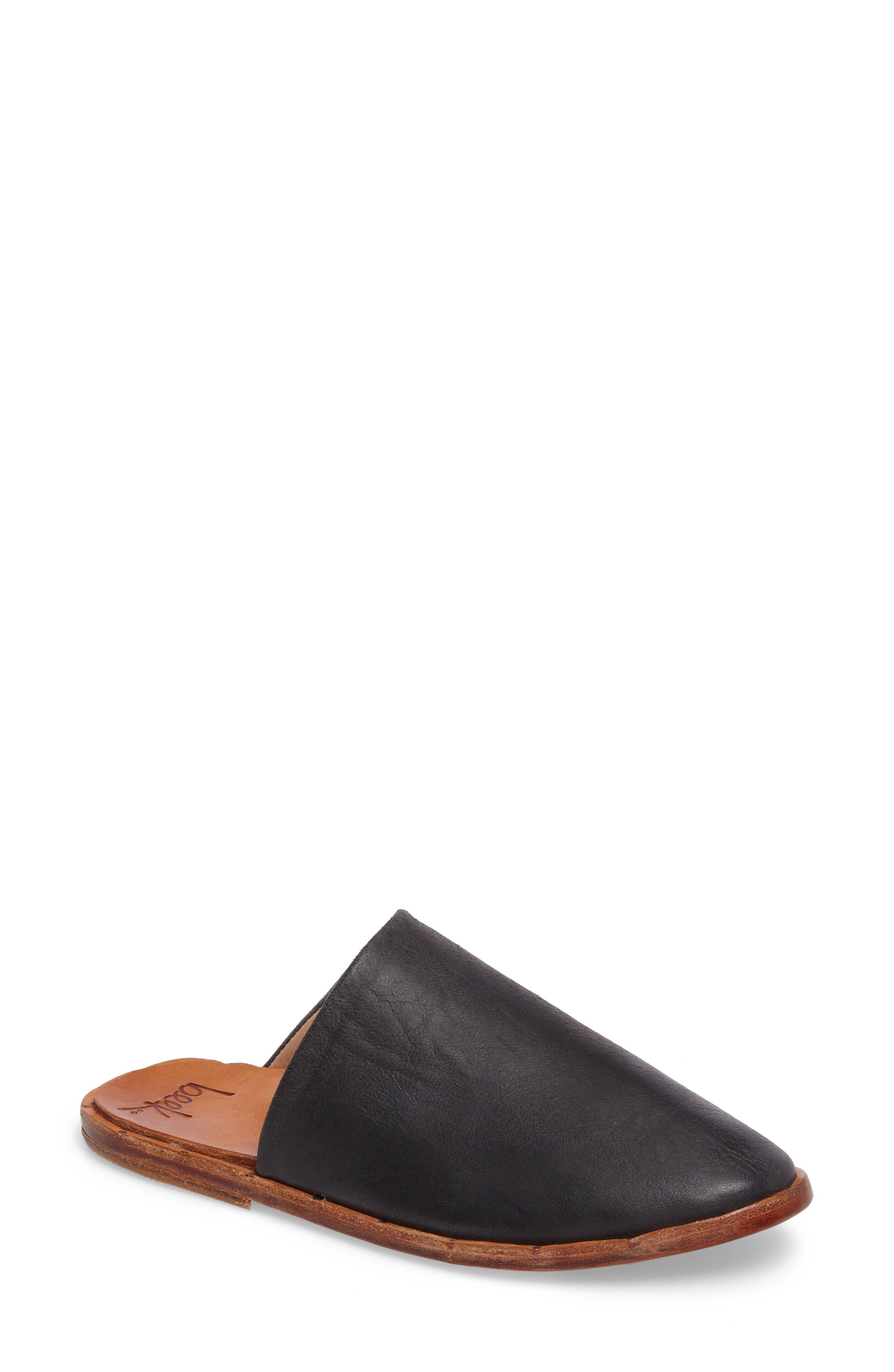 Seagull Mule,                             Main thumbnail 1, color,                             Vintage Black Leather