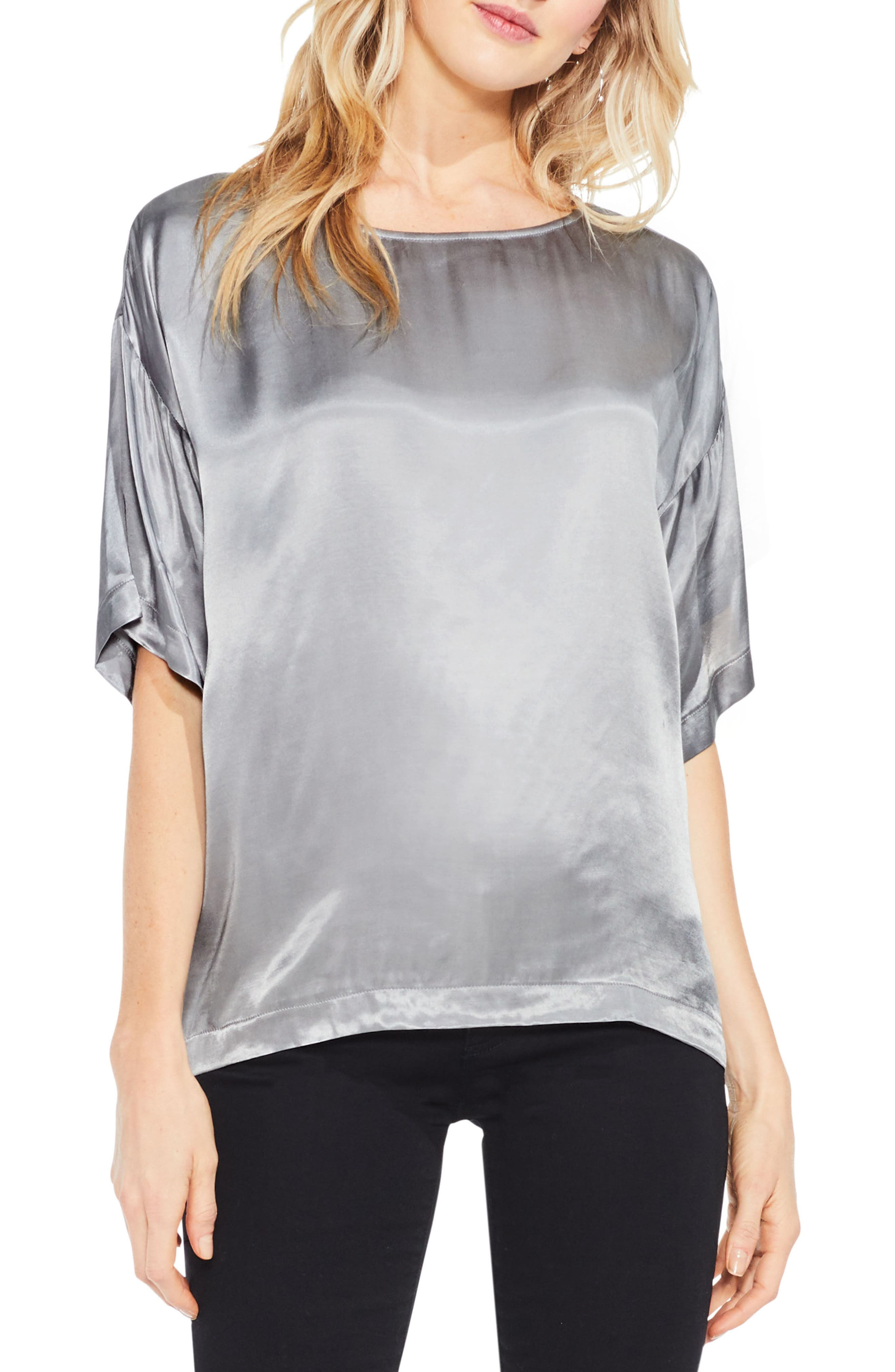 Alternate Image 1 Selected - Two by Vince Camuto Satin Tee