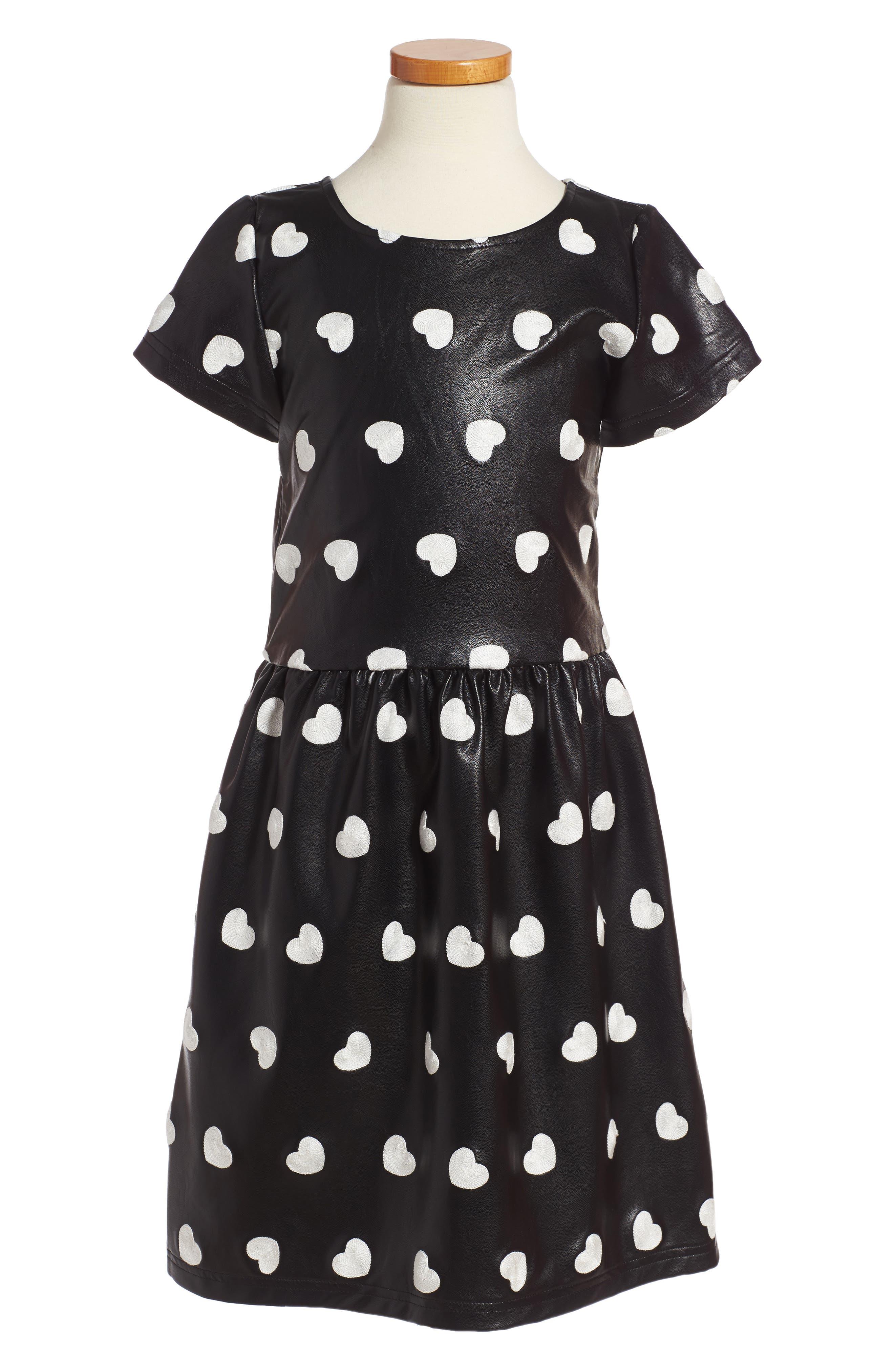 Appaman Kelsey Embroidered Heart Dress (Toddler Girls, Little Girls & Big Girls)