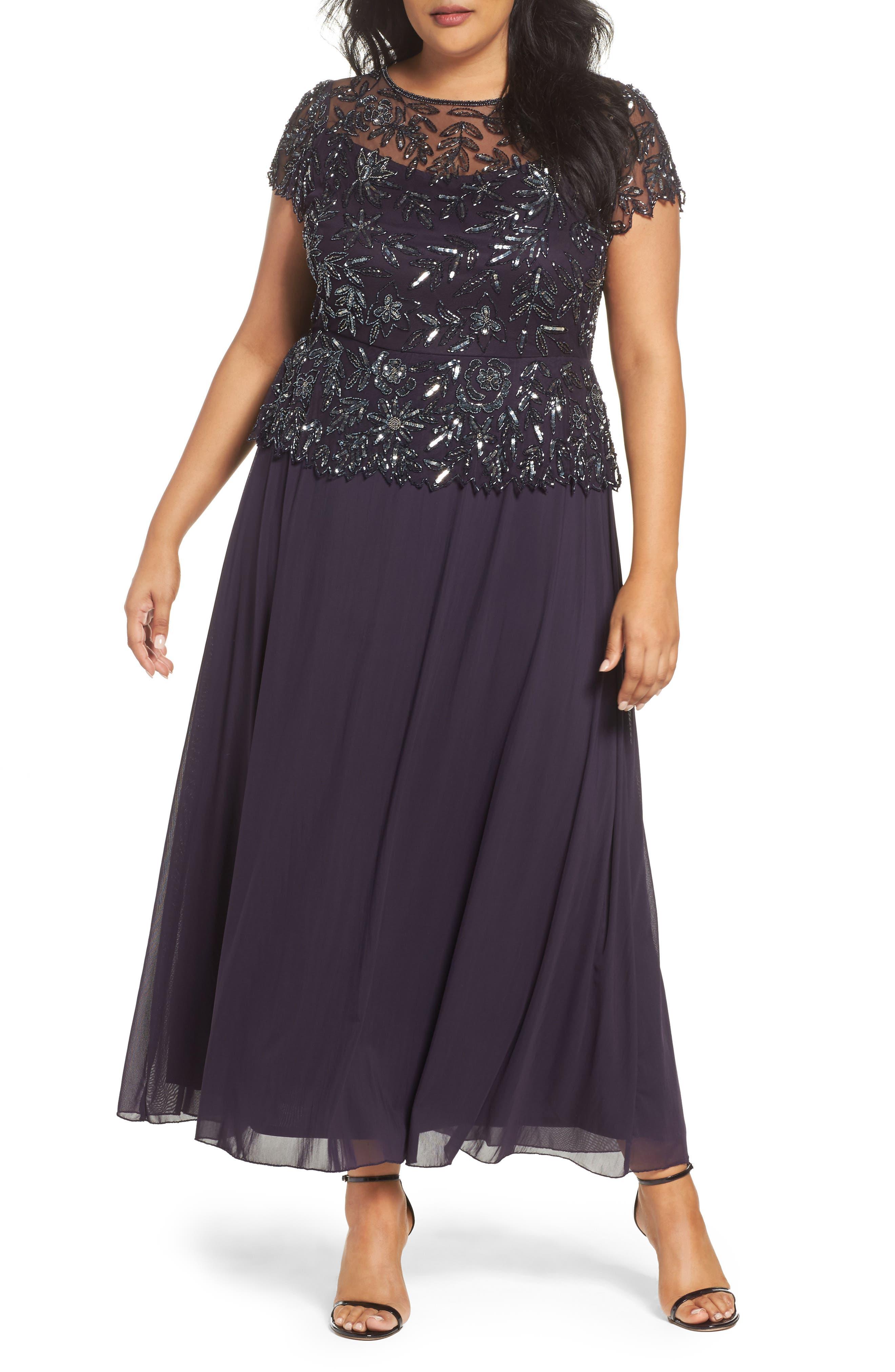 Pisarro Nights Mock 2-Pc. A-Line Gown (Plus Size)