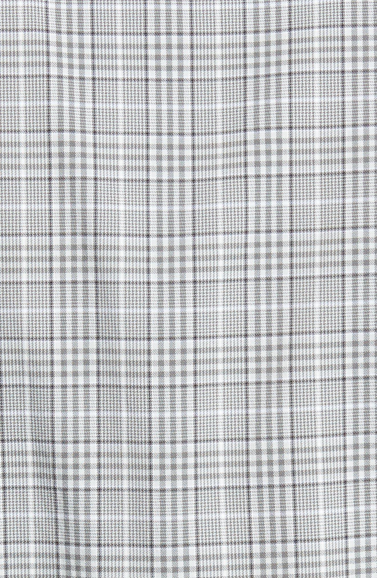 Vedder Gingham Regular Fit Performance Sport Shirt,                             Alternate thumbnail 5, color,                             Smoke
