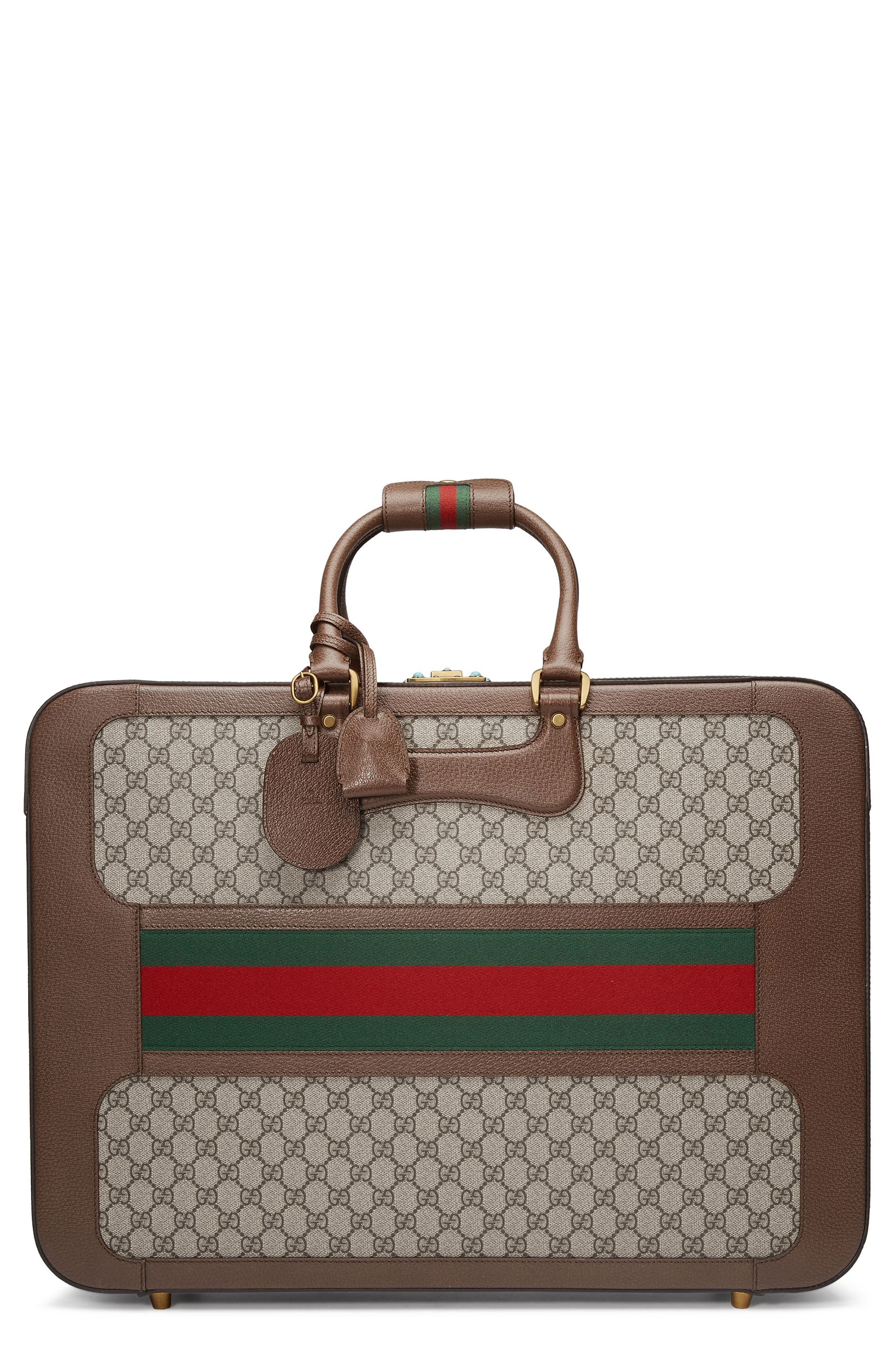 Gucci Large Echo GG Supreme Canvas & Leather Suitcase