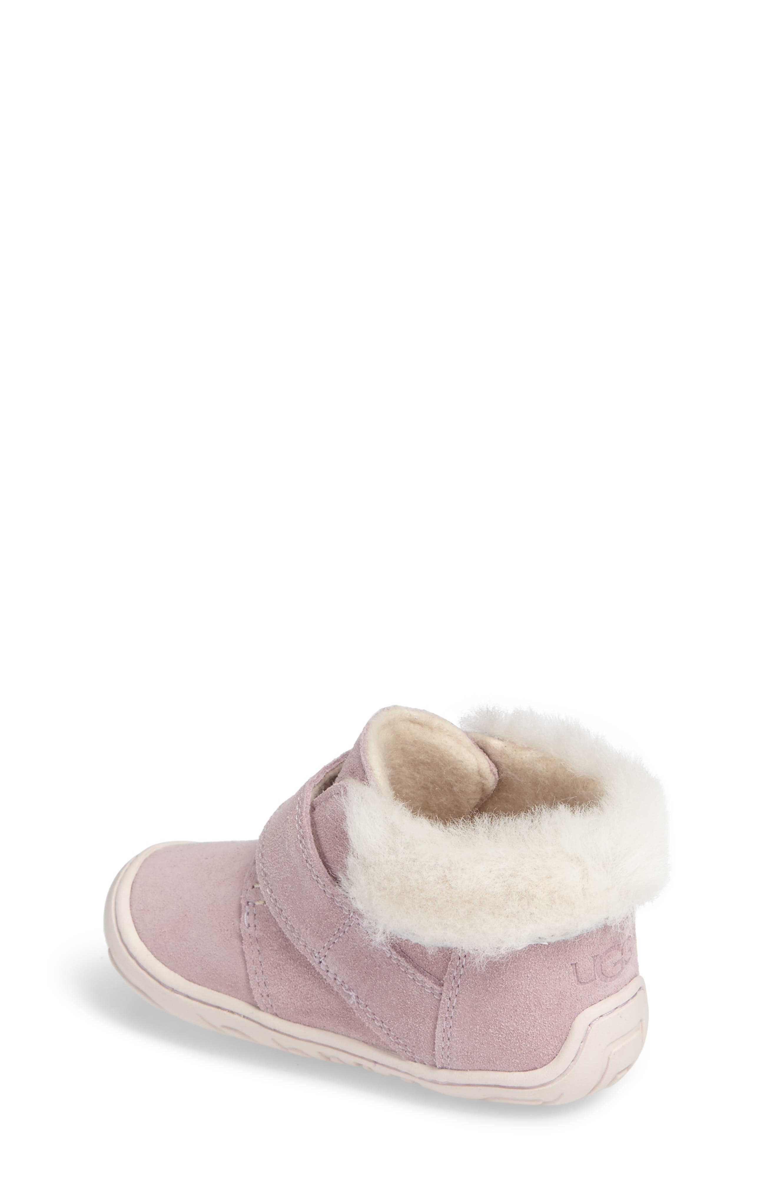 Alternate Image 2  - UGG® Jorgen Genuine Shearling Bootie (Baby, Walker & Toddler)