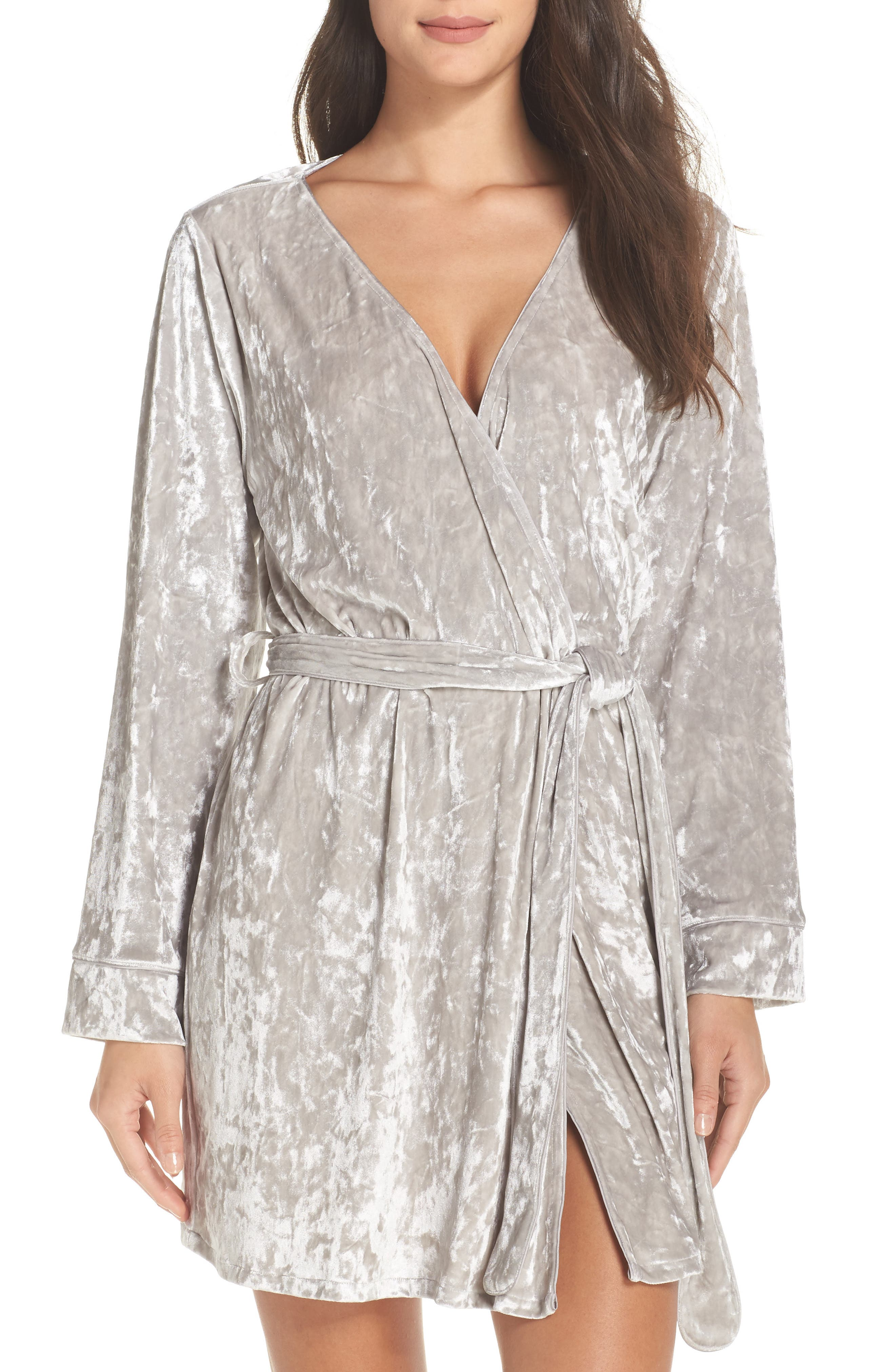 Chelsea28 Crushed Velvet Short Robe