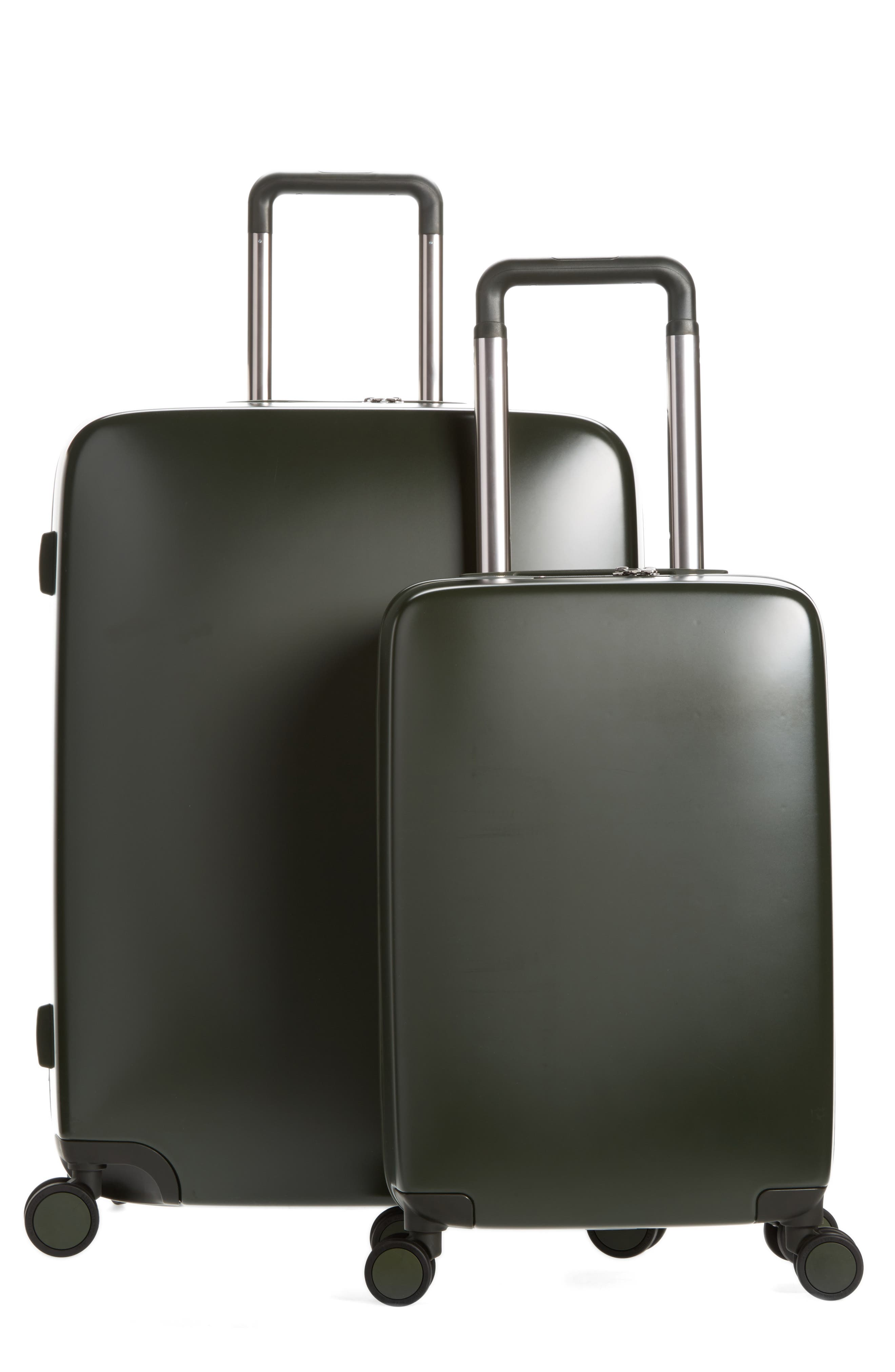 The A50 28-Inch & 22-Inch 2-Piece Luggage Set,                             Main thumbnail 1, color,                             Hunter Green Matte