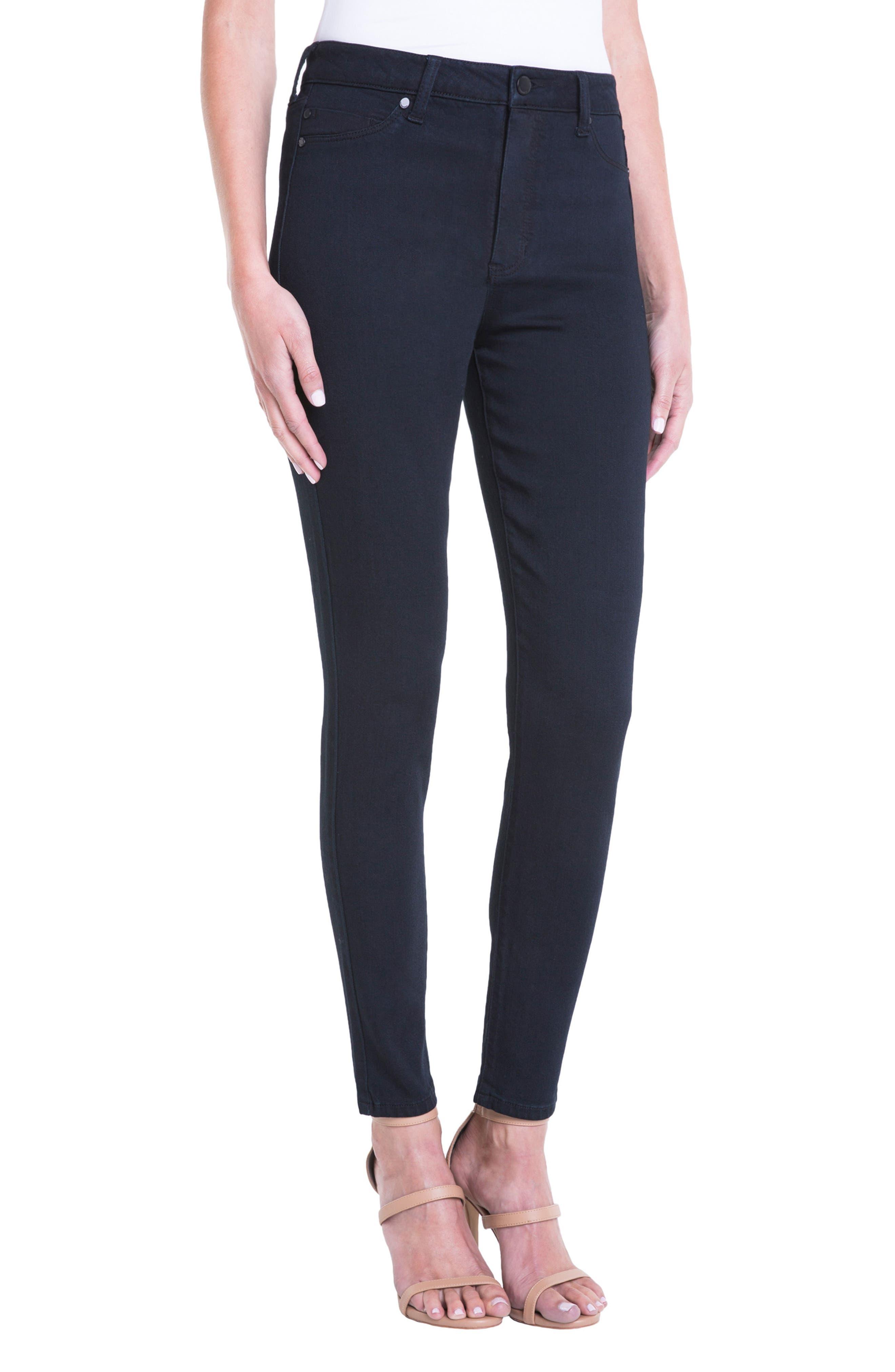Jeans Company Bridget High Waist Skinny Jeans,                             Alternate thumbnail 3, color,                             Indigo Over Dye Black