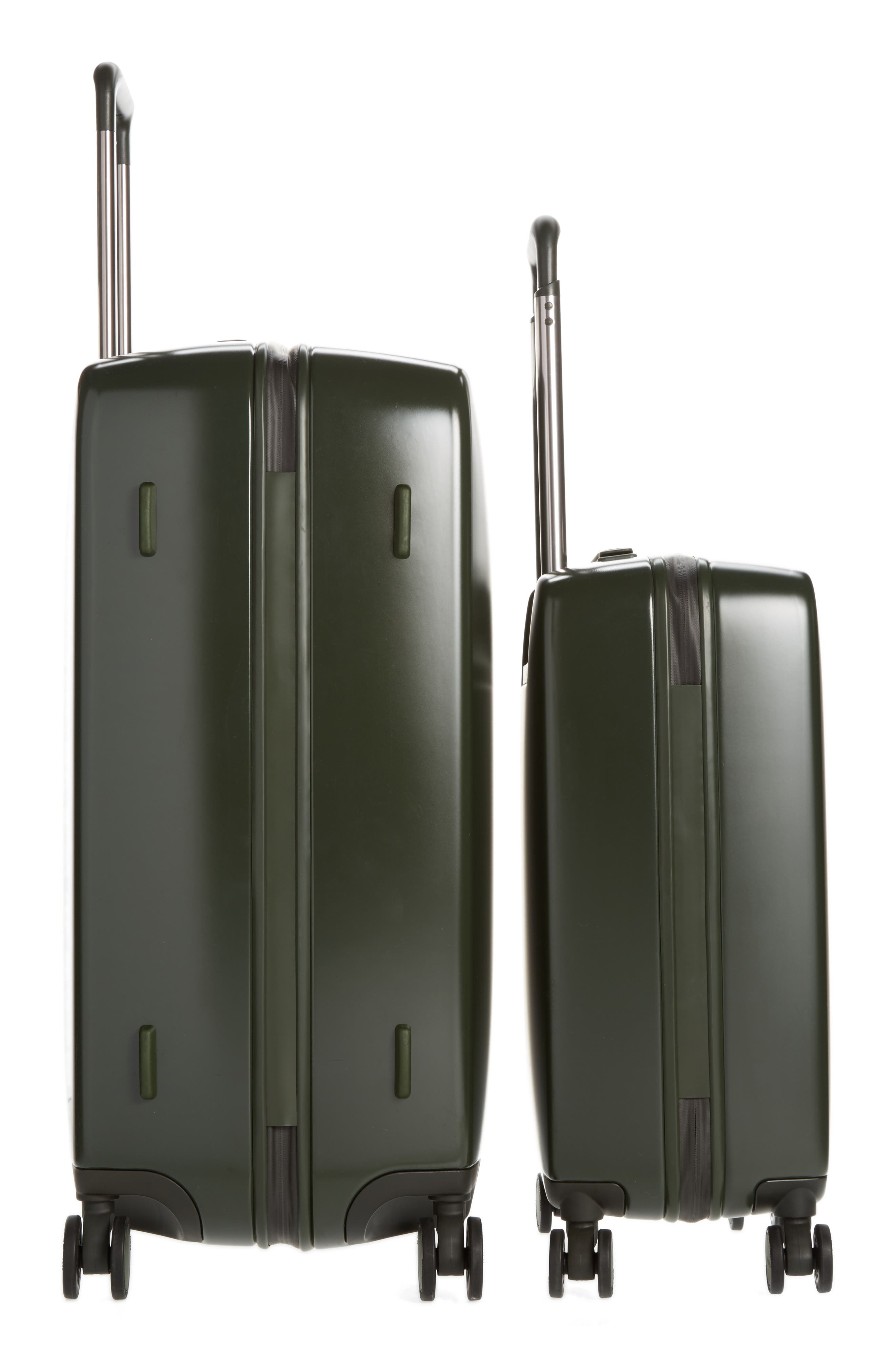 The A50 28-Inch & 22-Inch 2-Piece Luggage Set,                             Alternate thumbnail 4, color,                             Hunter Green Matte