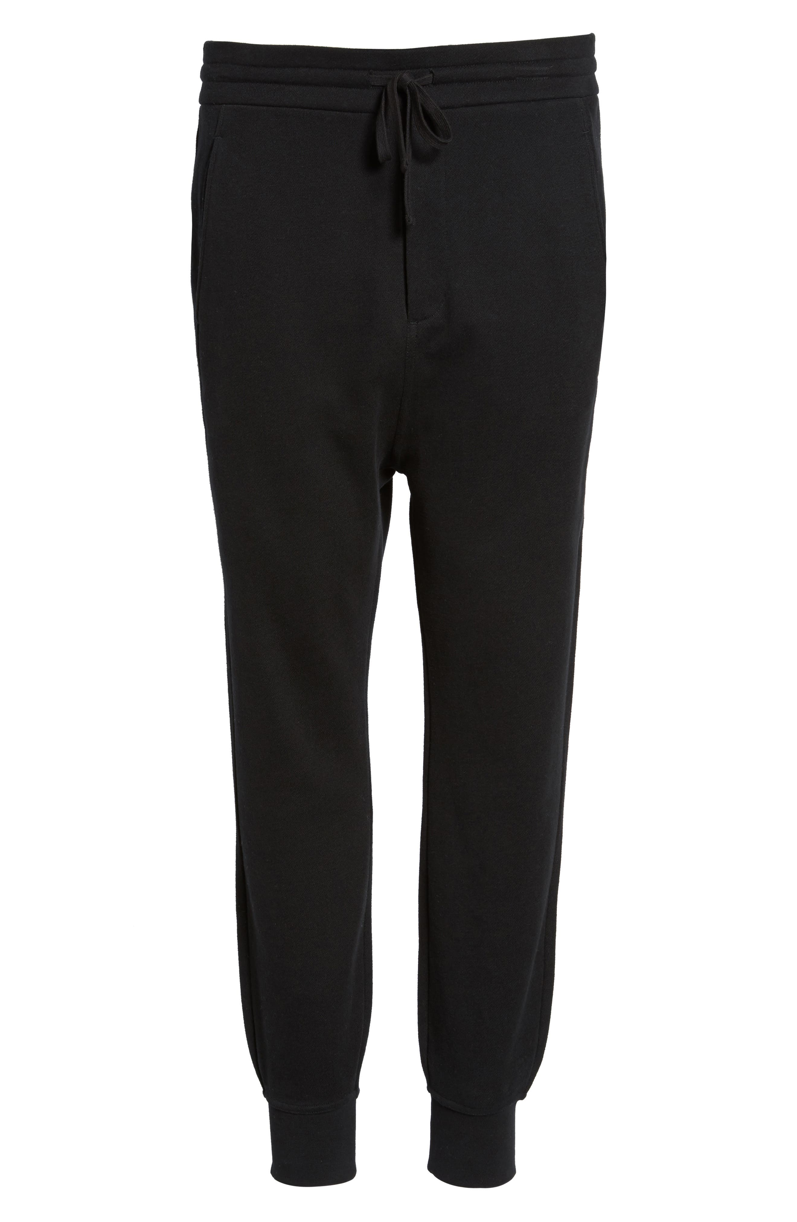 Regular Fit Sweatpants,                             Alternate thumbnail 6, color,                             Black