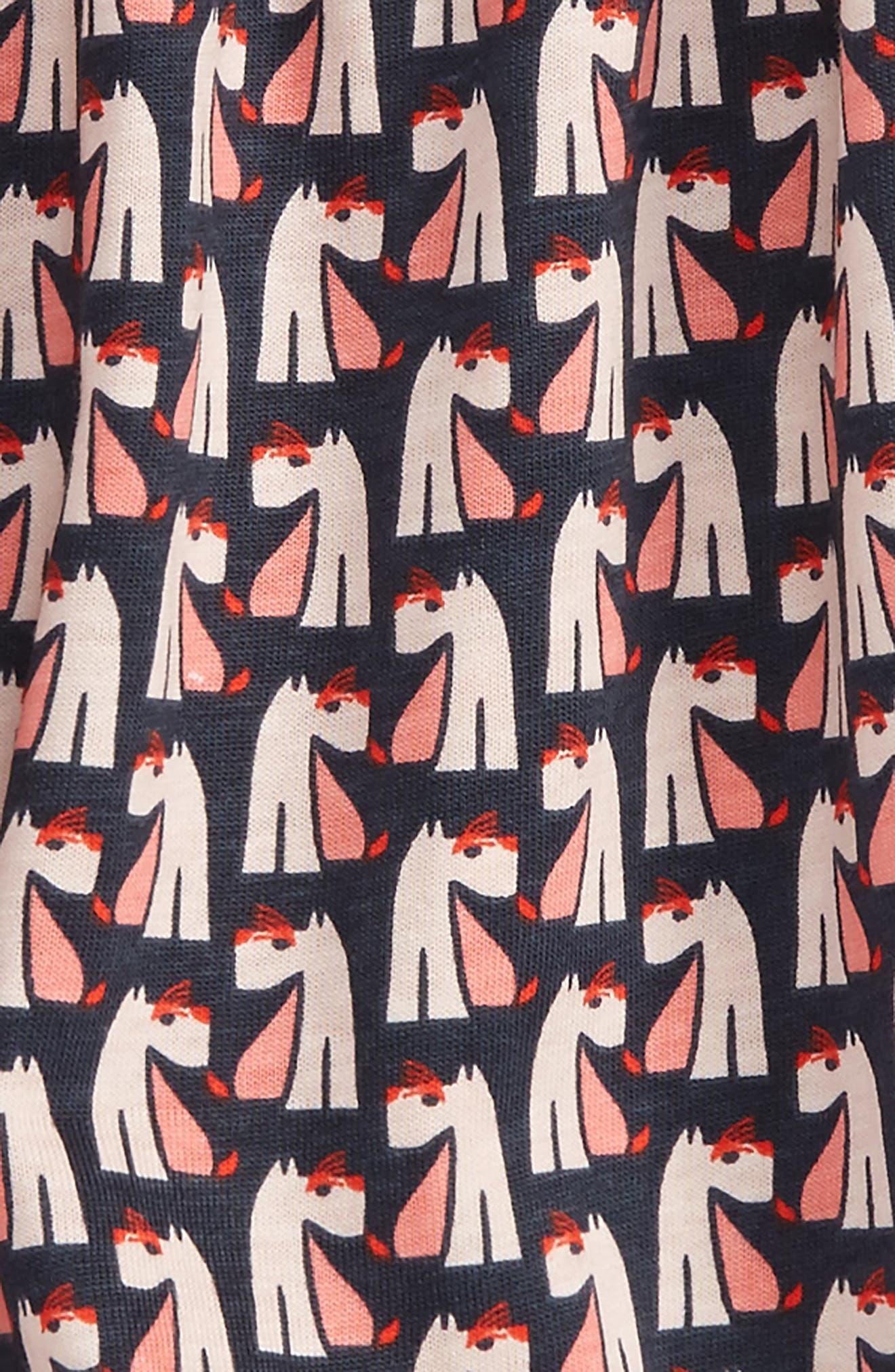 Alternate Image 2  - Tea Collection Scottie Dog Romper (Baby Girls)