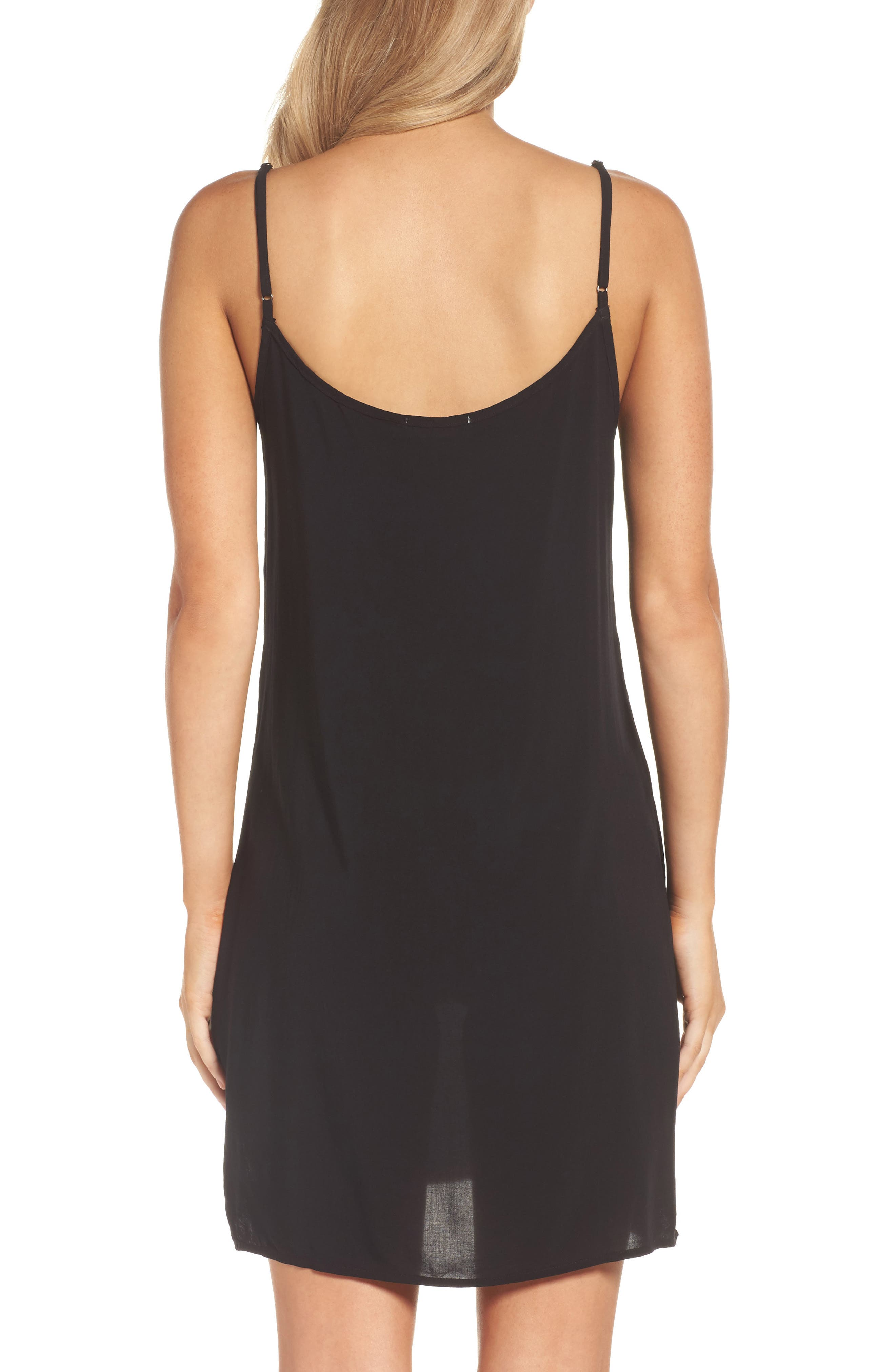 V-Neck Chemise,                             Alternate thumbnail 2, color,                             Tar