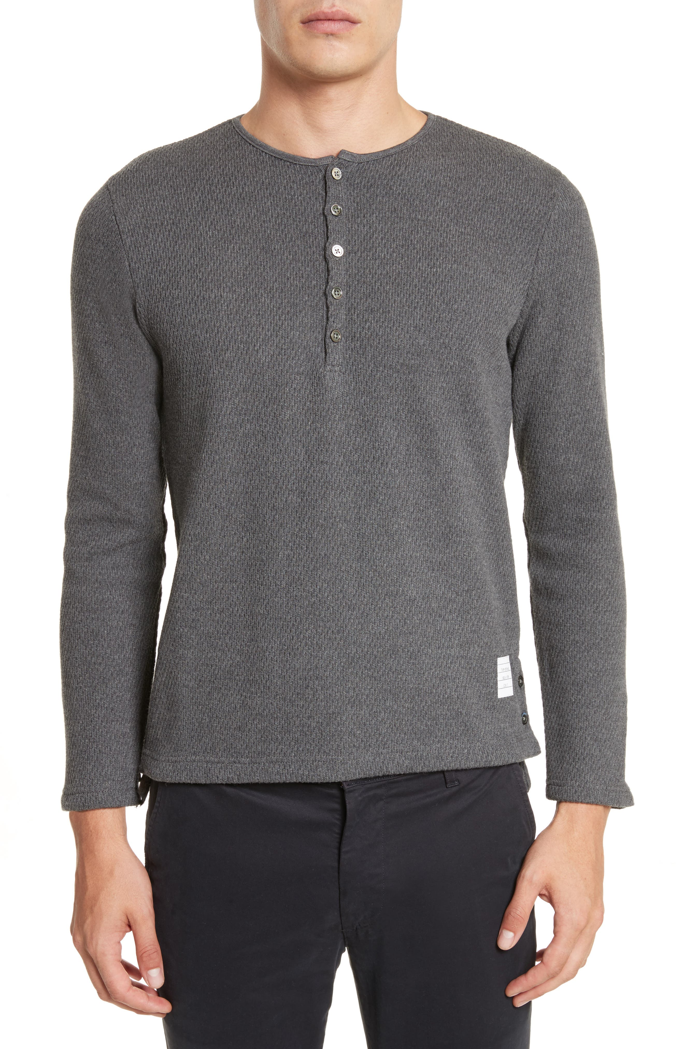 Main Image - Thom Browne Knit Cotton Henley