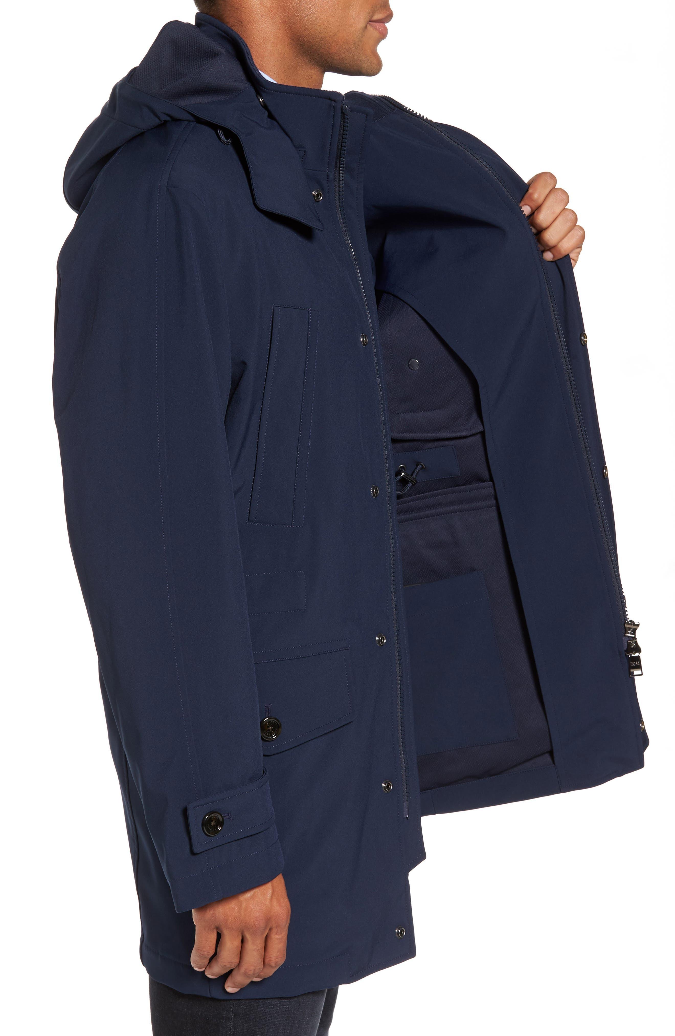 Technical Longline Jacket,                             Alternate thumbnail 3, color,                             Navy
