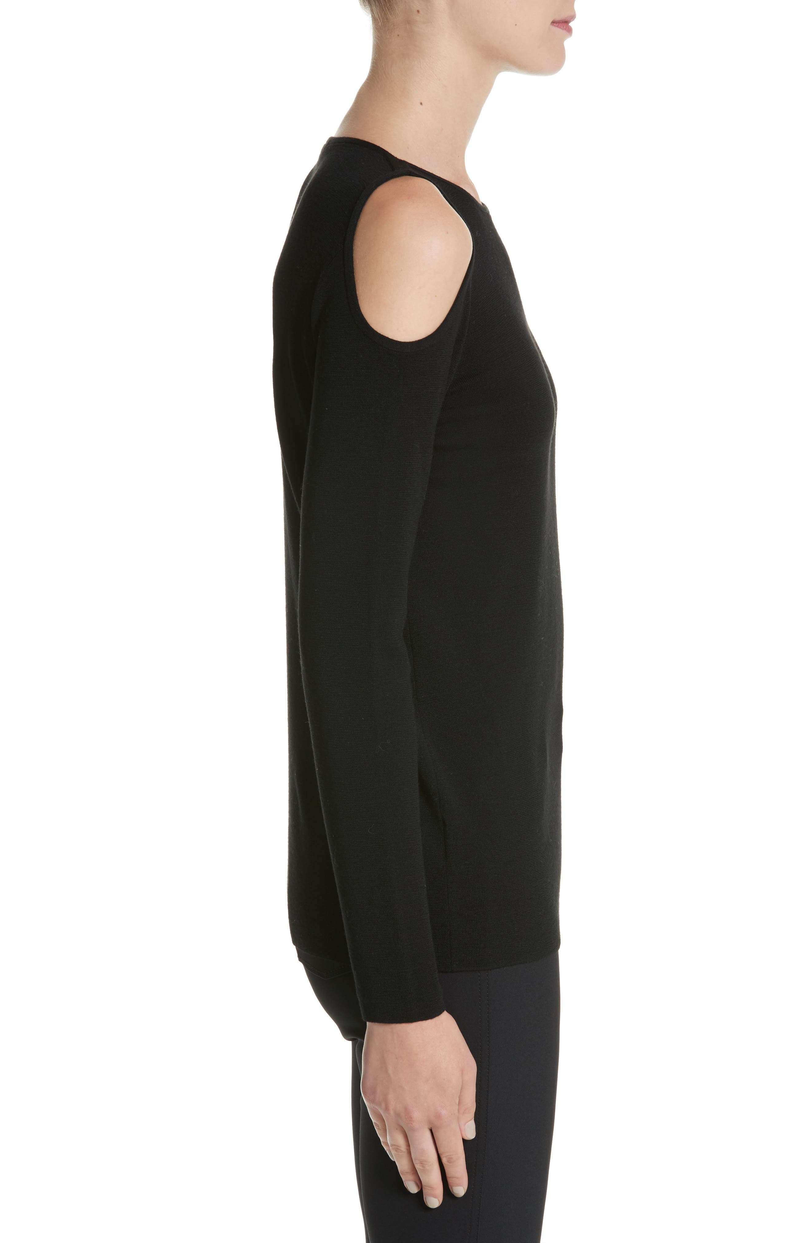Alternate Image 3  - Lafayette 148 New York Wool Cold Shoulder Sweater