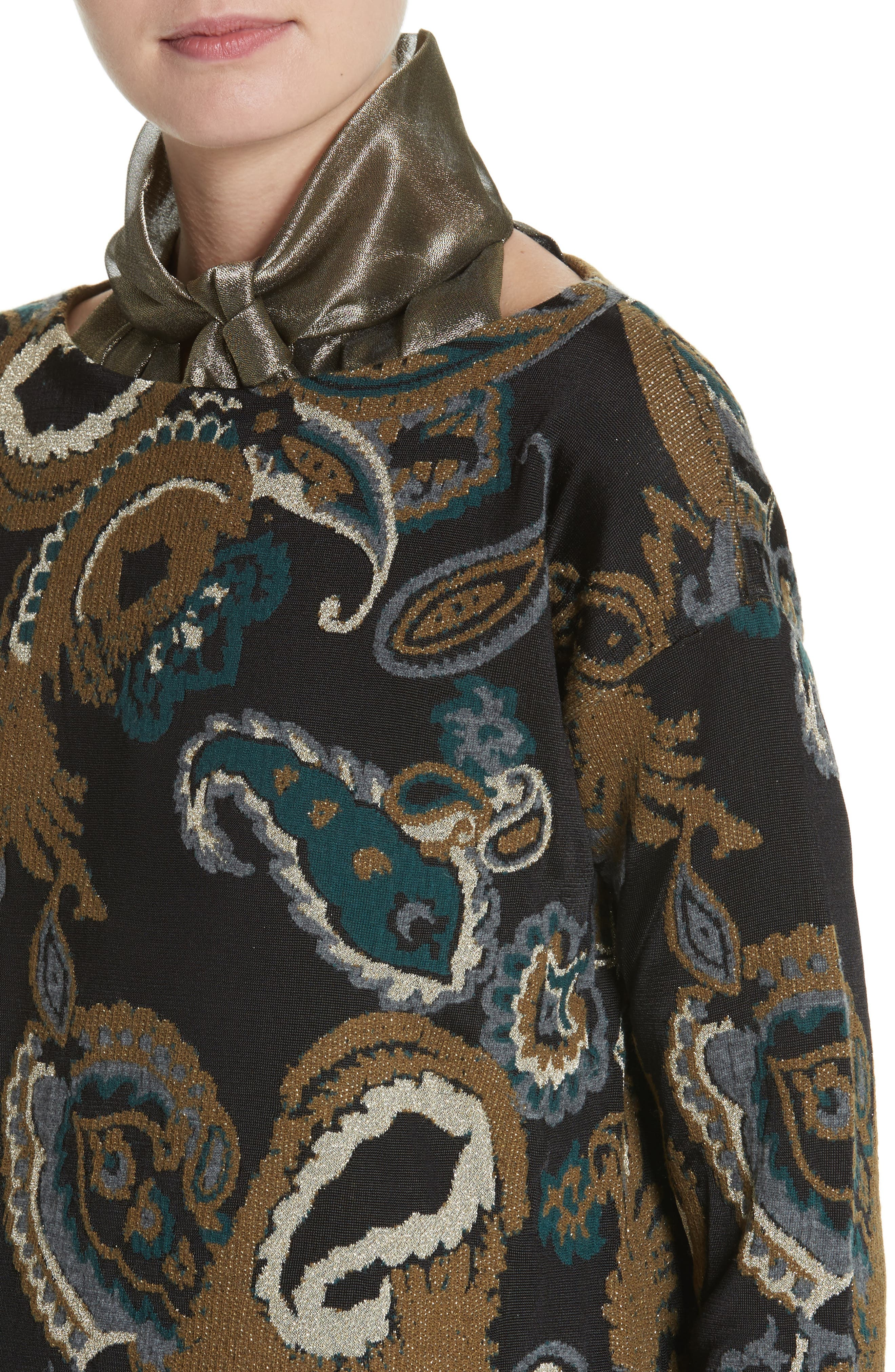 Alternate Image 4  - Lafayette 148 New York Paisley Jacquard Sweater