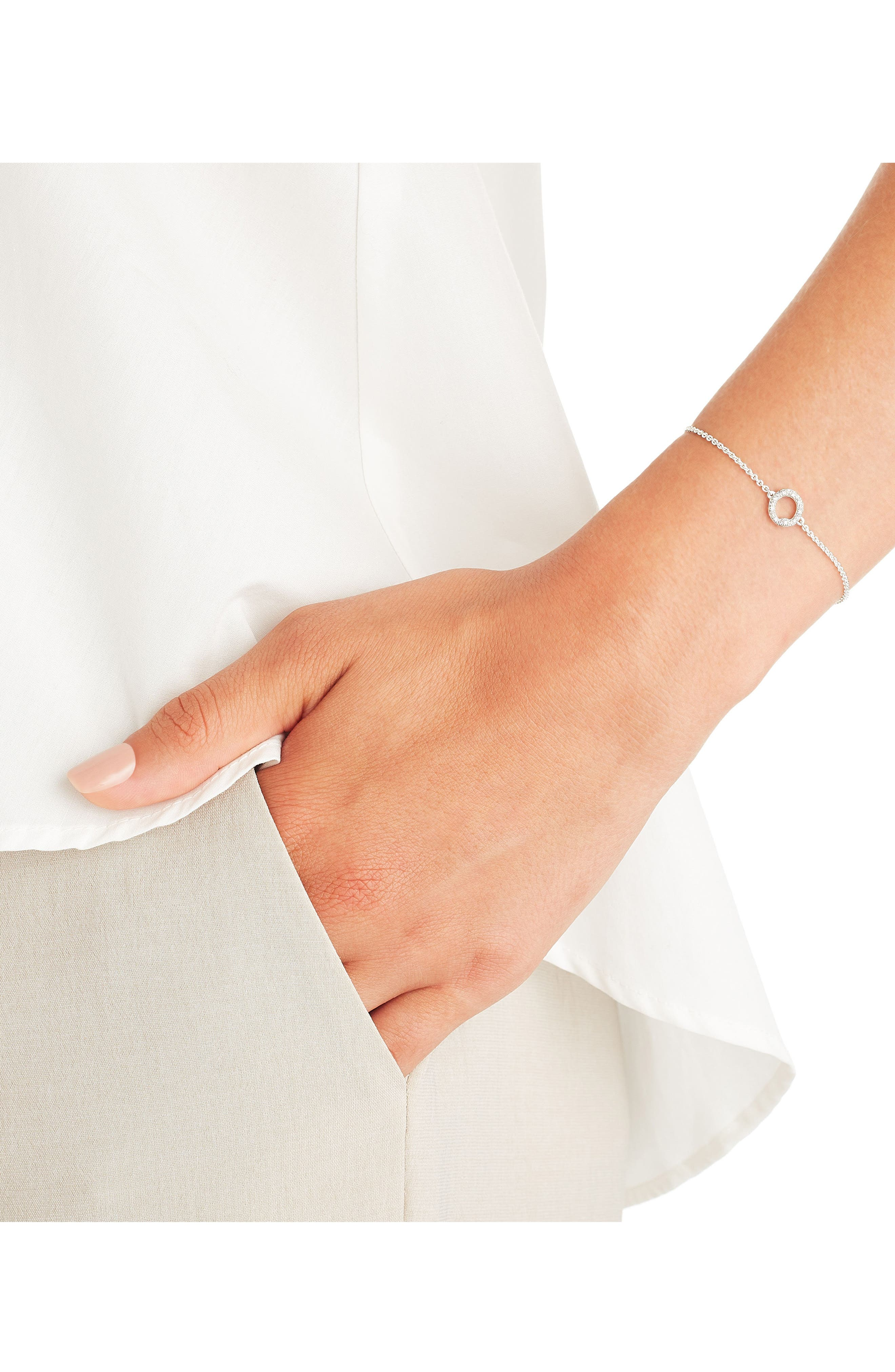 Alternate Image 2  - Monica Vinader Riva Mini Circle Diamond Bracelet