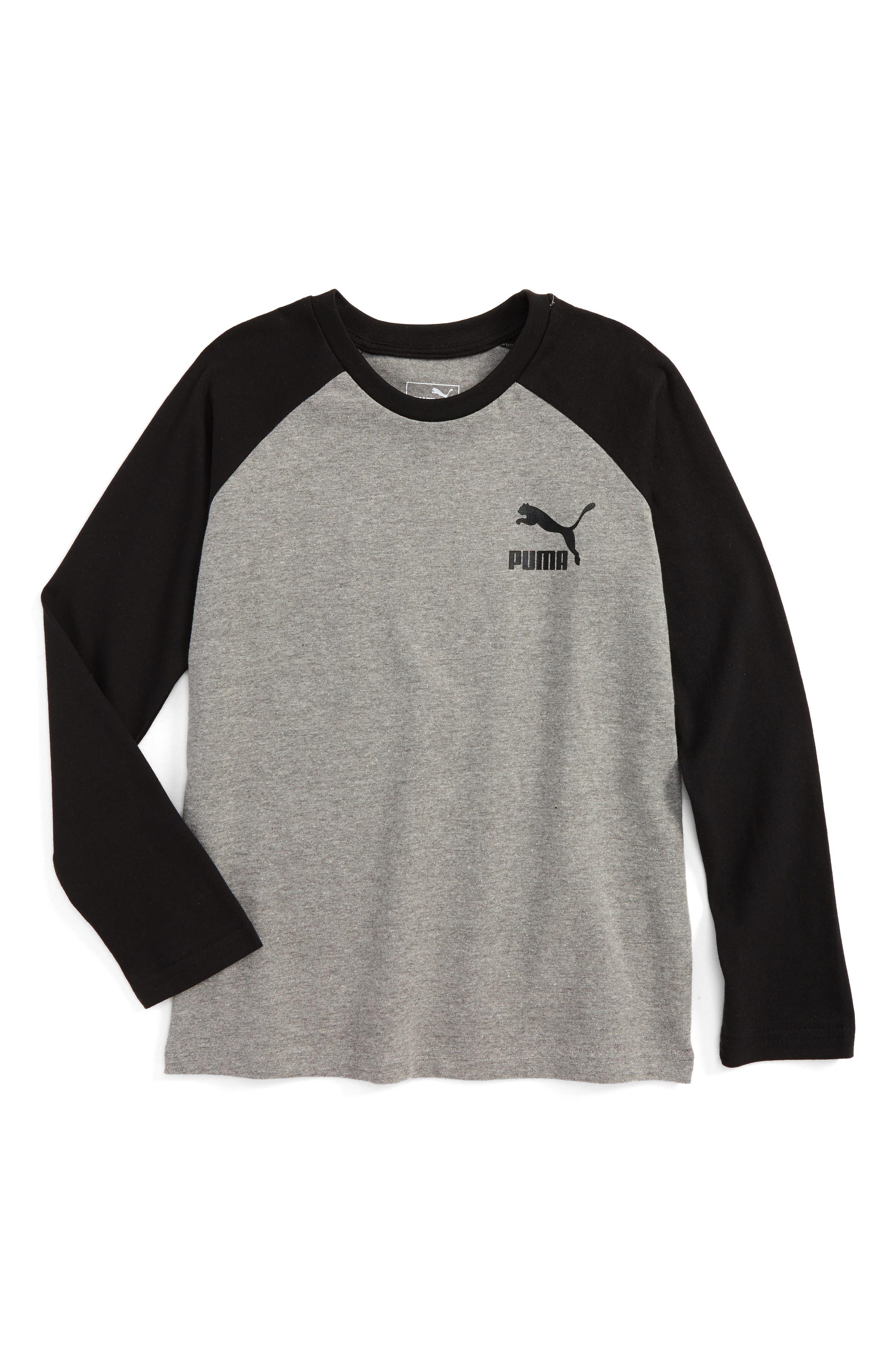 Puma Logo Raglan T-Shirt (Big Boys)