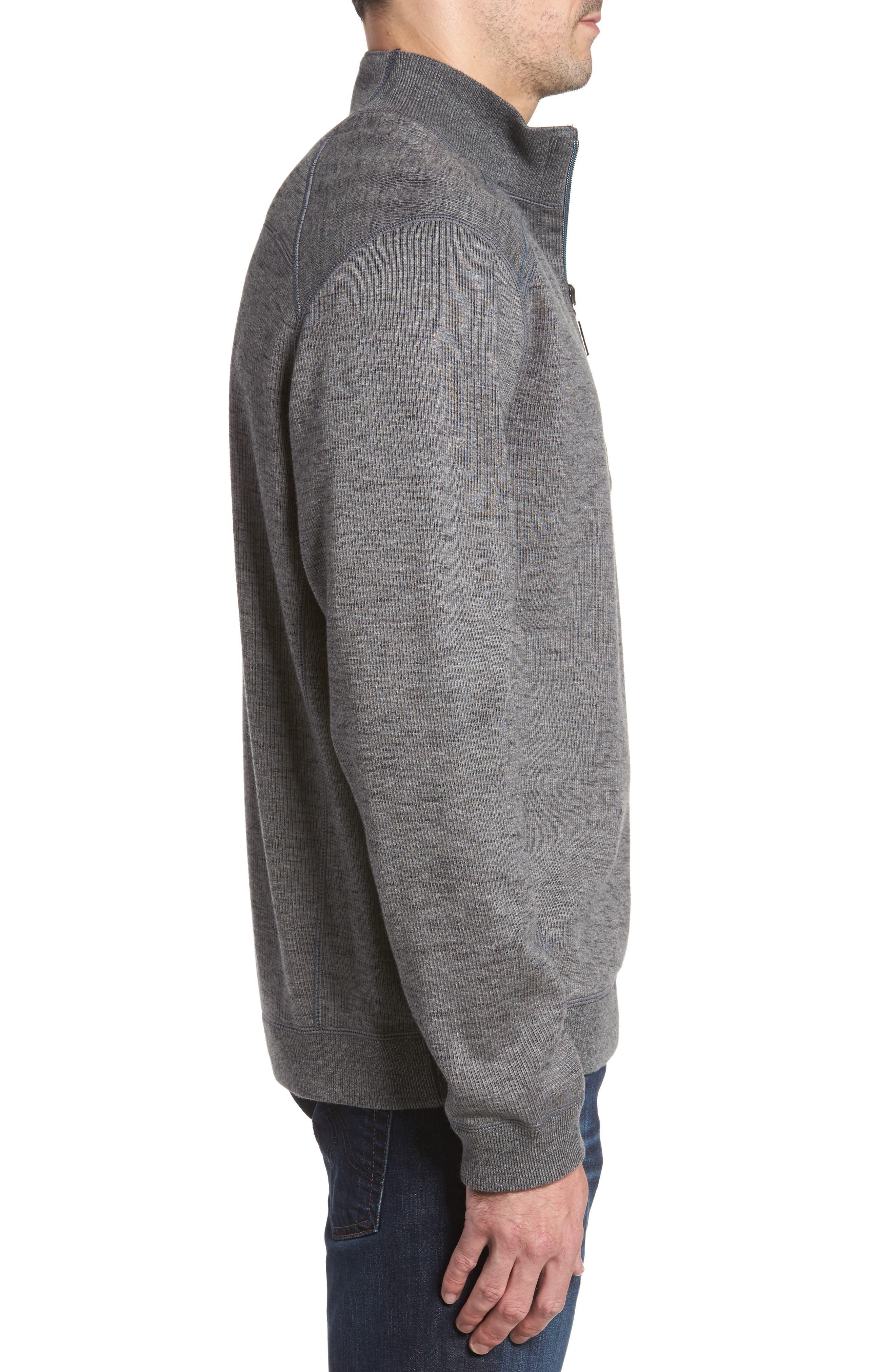 Alternate Image 3  - Tommy Bahama Flipsider Half Zip Reversible Sweatshirt