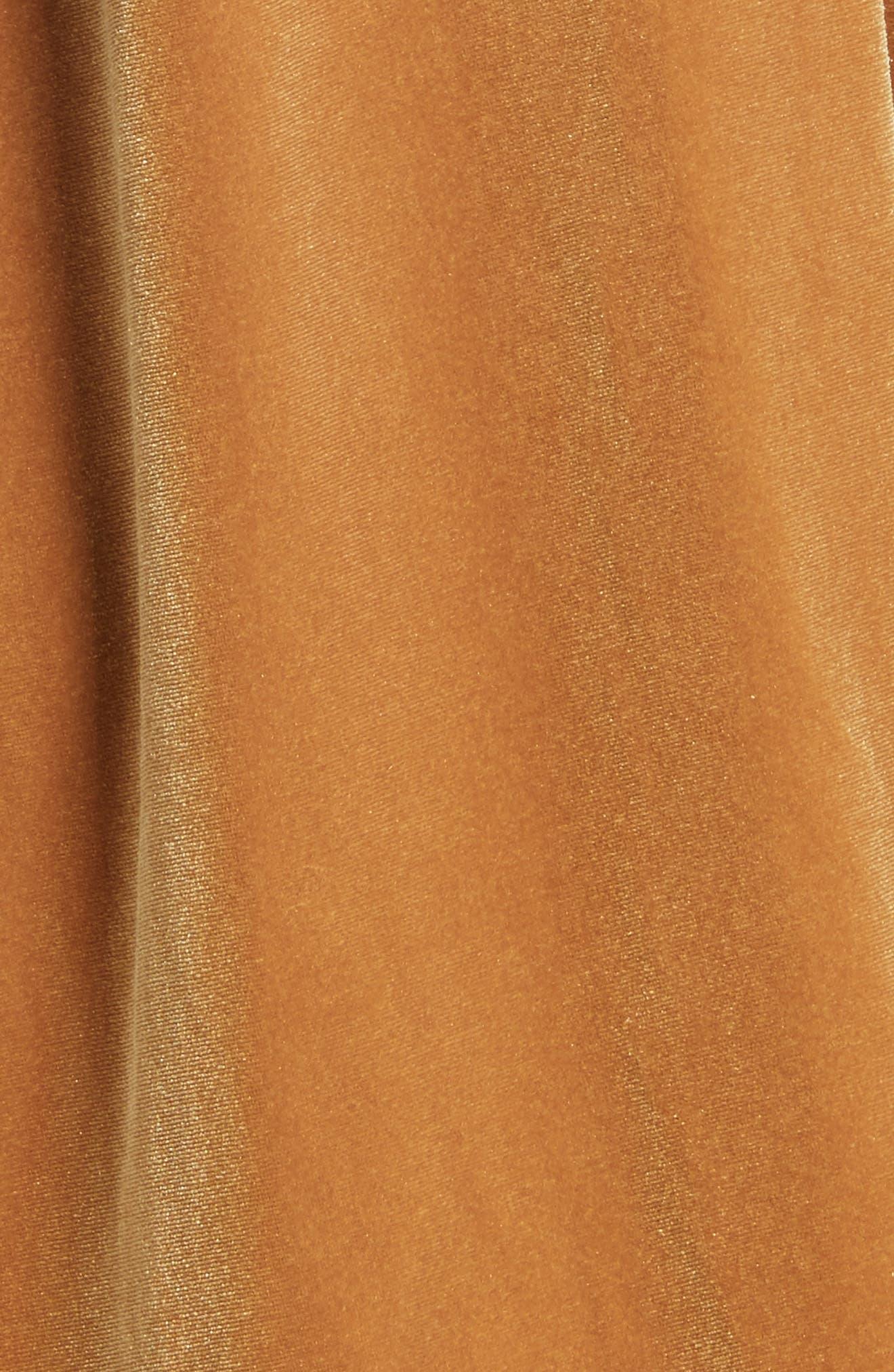 Misha Velvet Minidress,                             Alternate thumbnail 5, color,                             Gold