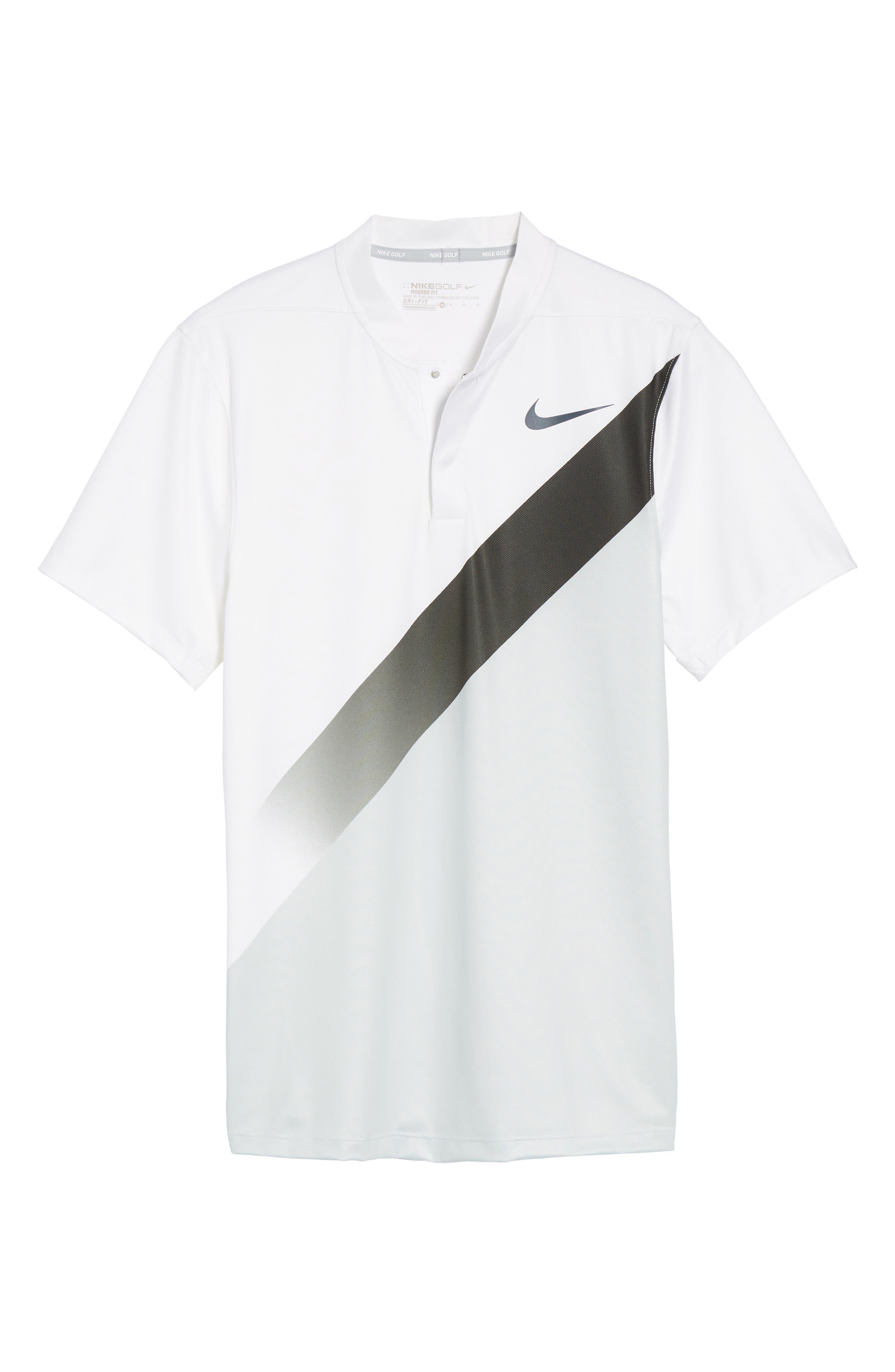 Dry Golf Polo,                             Alternate thumbnail 6, color,                             White/ Platinum/ Black/ Black