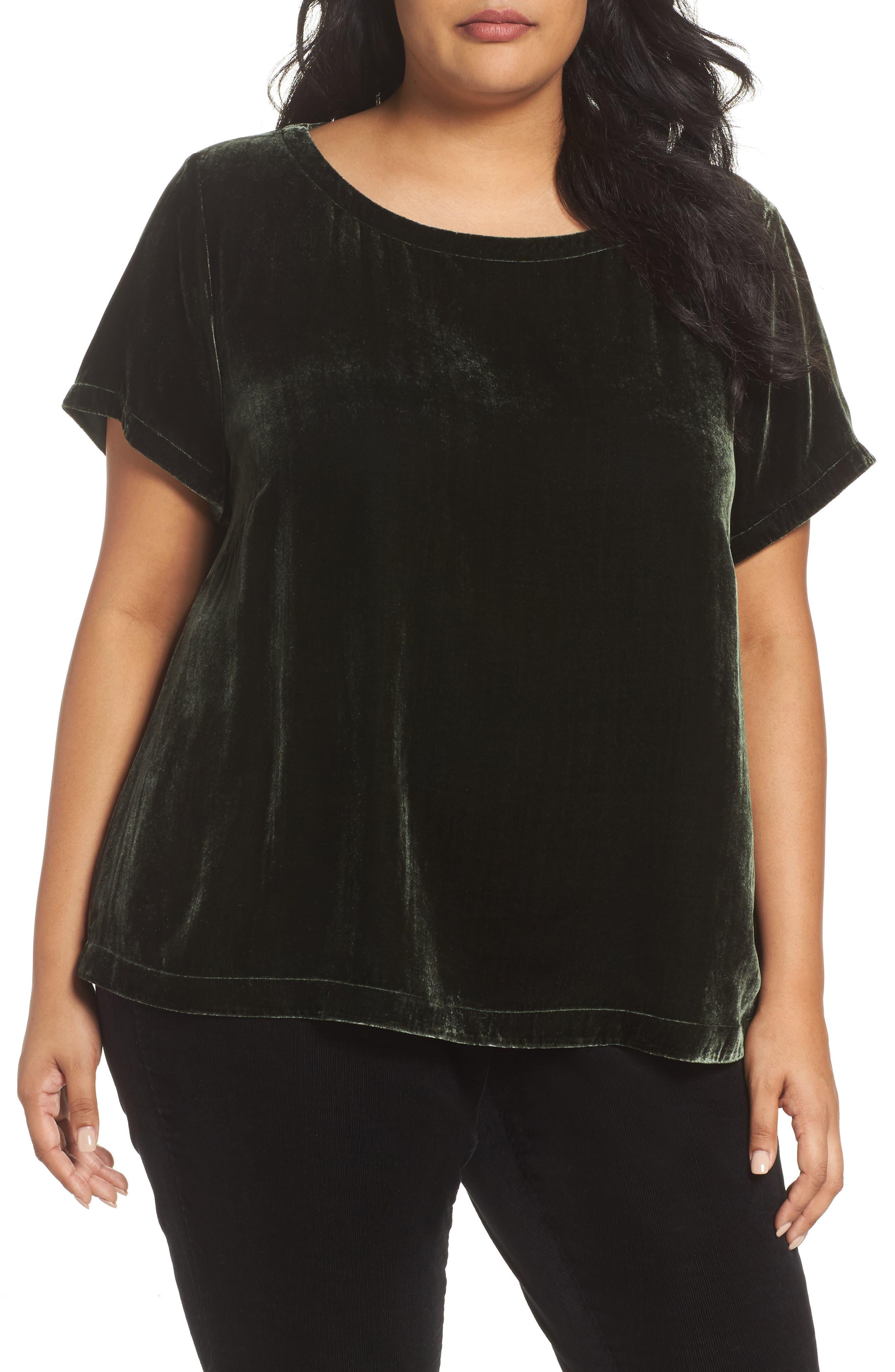 Eileen Fisher Velvet Top (Plus Size)