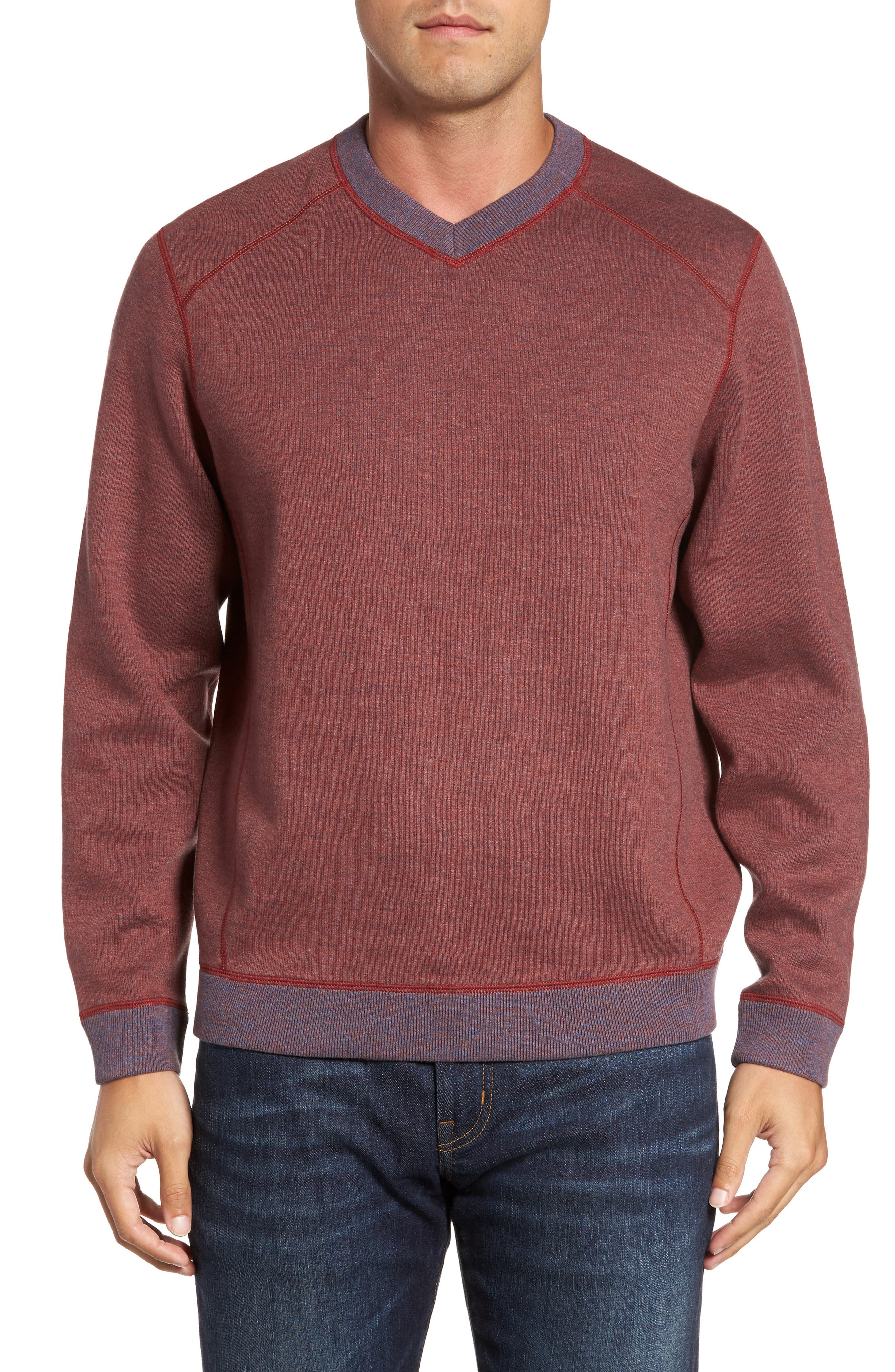 Flipside Pro Reversible Sweatshirt,                             Main thumbnail 1, color,                             Pompeya Heather
