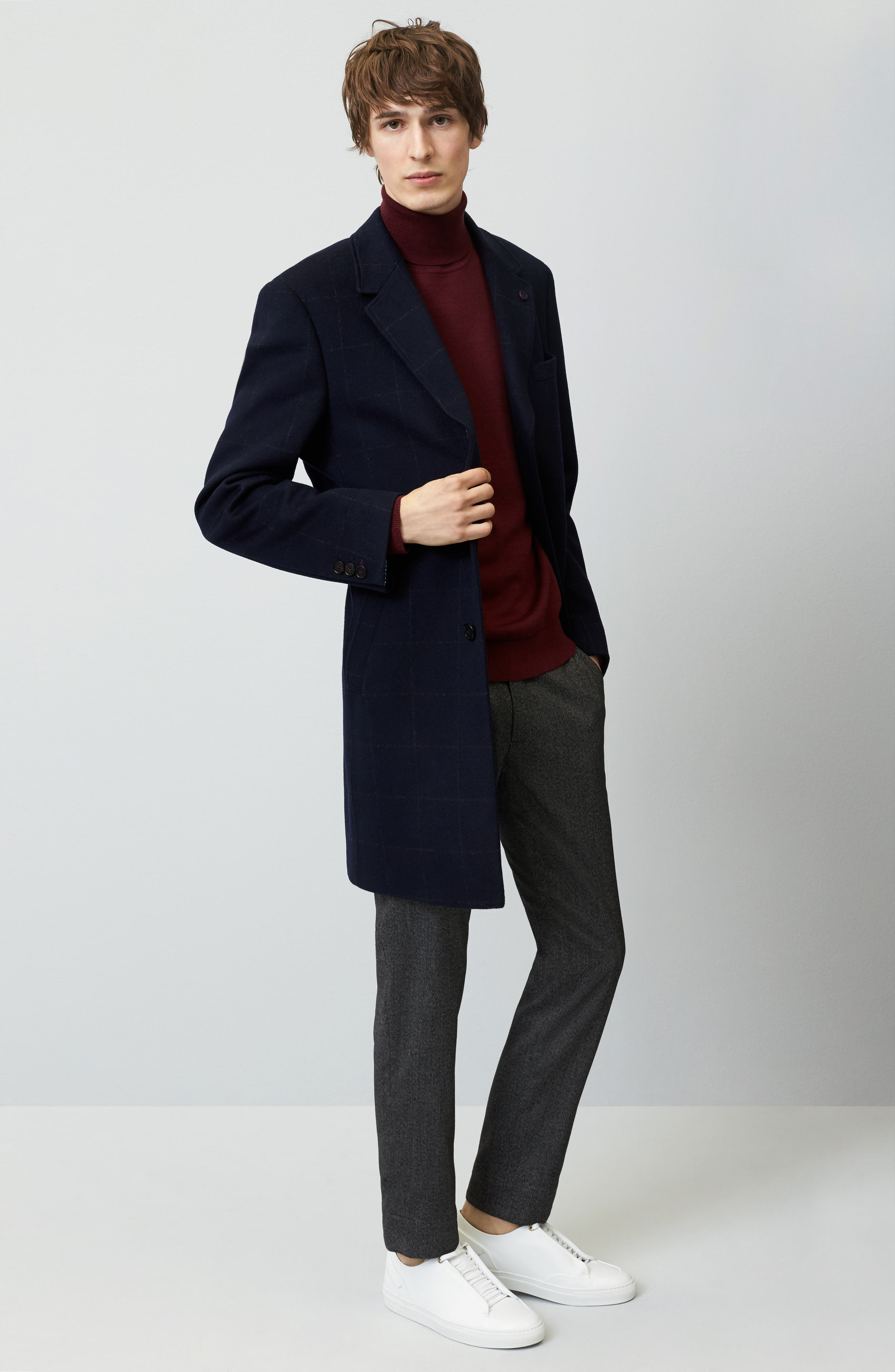 Alternate Image 7  - Ted Baker London Endurance Wool Blend Overcoat