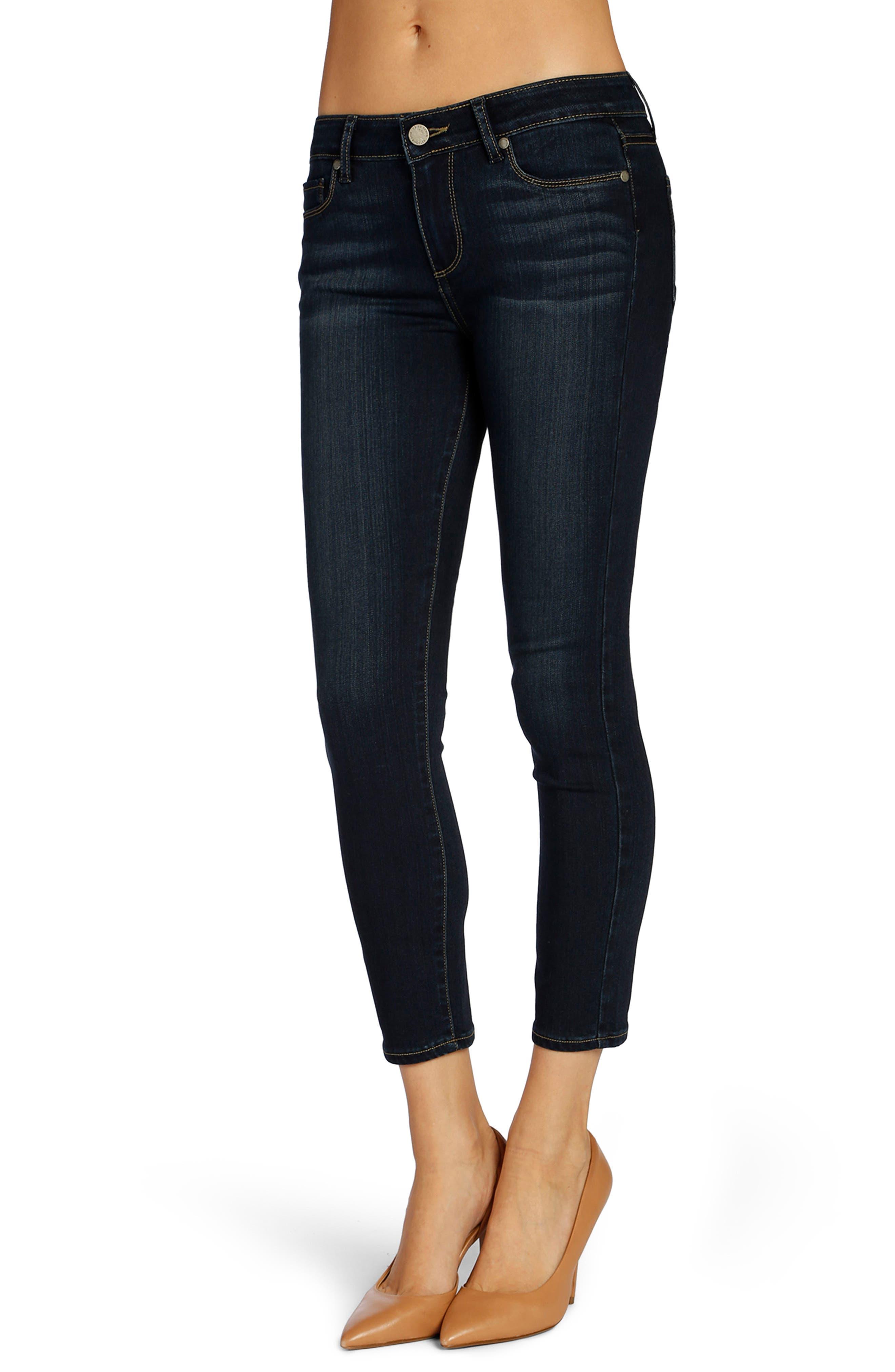 Transcend - Verdugo Crop Skinny Jeans,                         Main,                         color, Nottingham