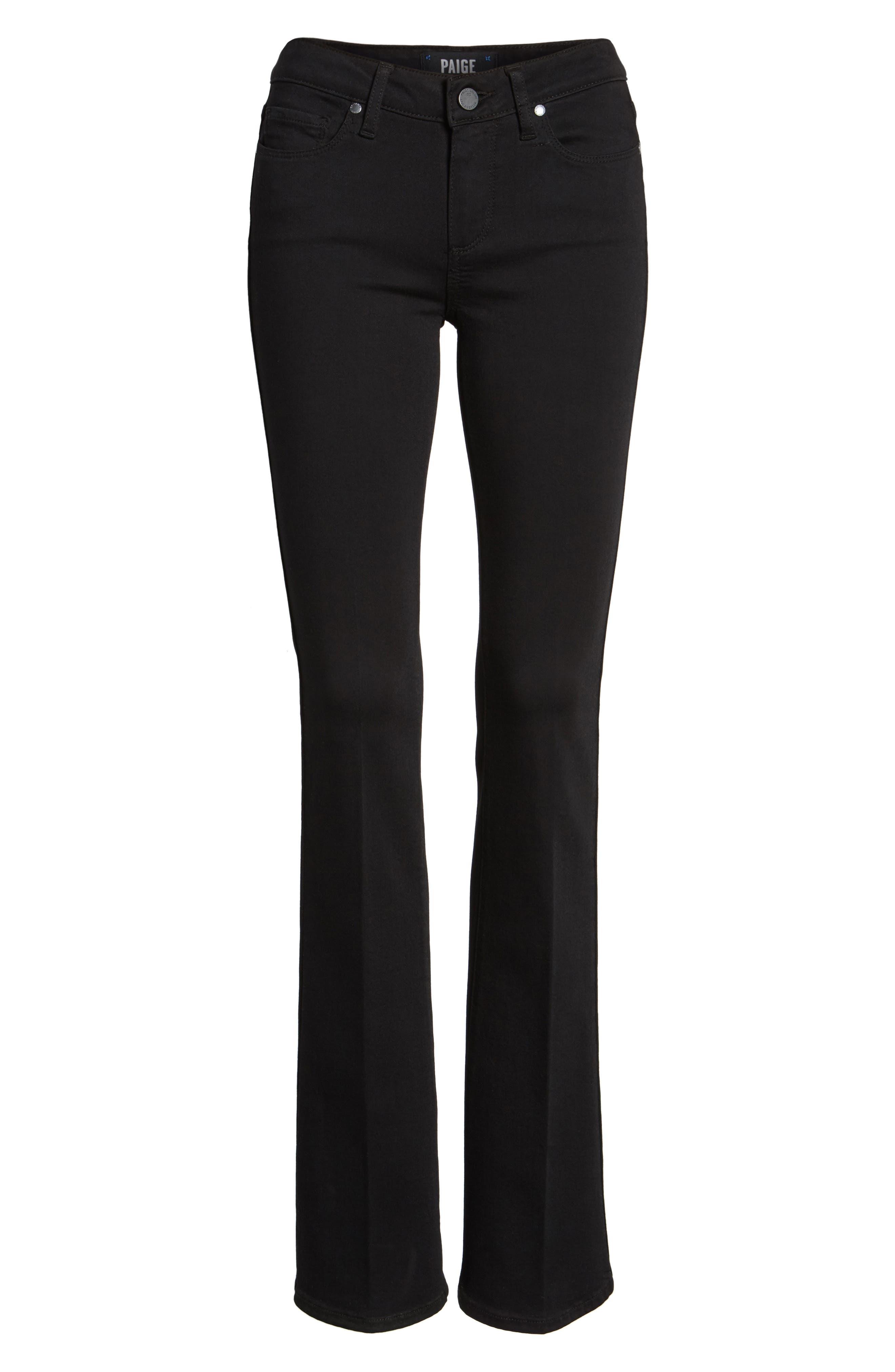 Alternate Image 6  - PAIGE Transcend - Manhattan Bootcut Jeans (Black Shadow)