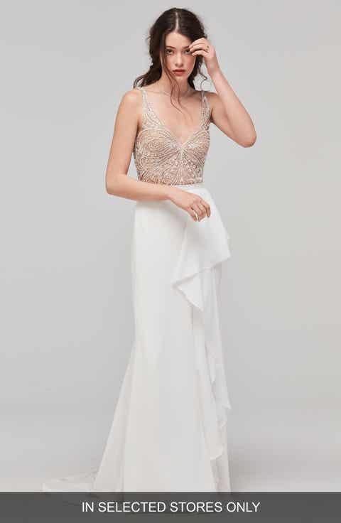 Womens wedding dresses bridal gowns nordstrom willowby cielo flutter faux wrap skirt junglespirit Images
