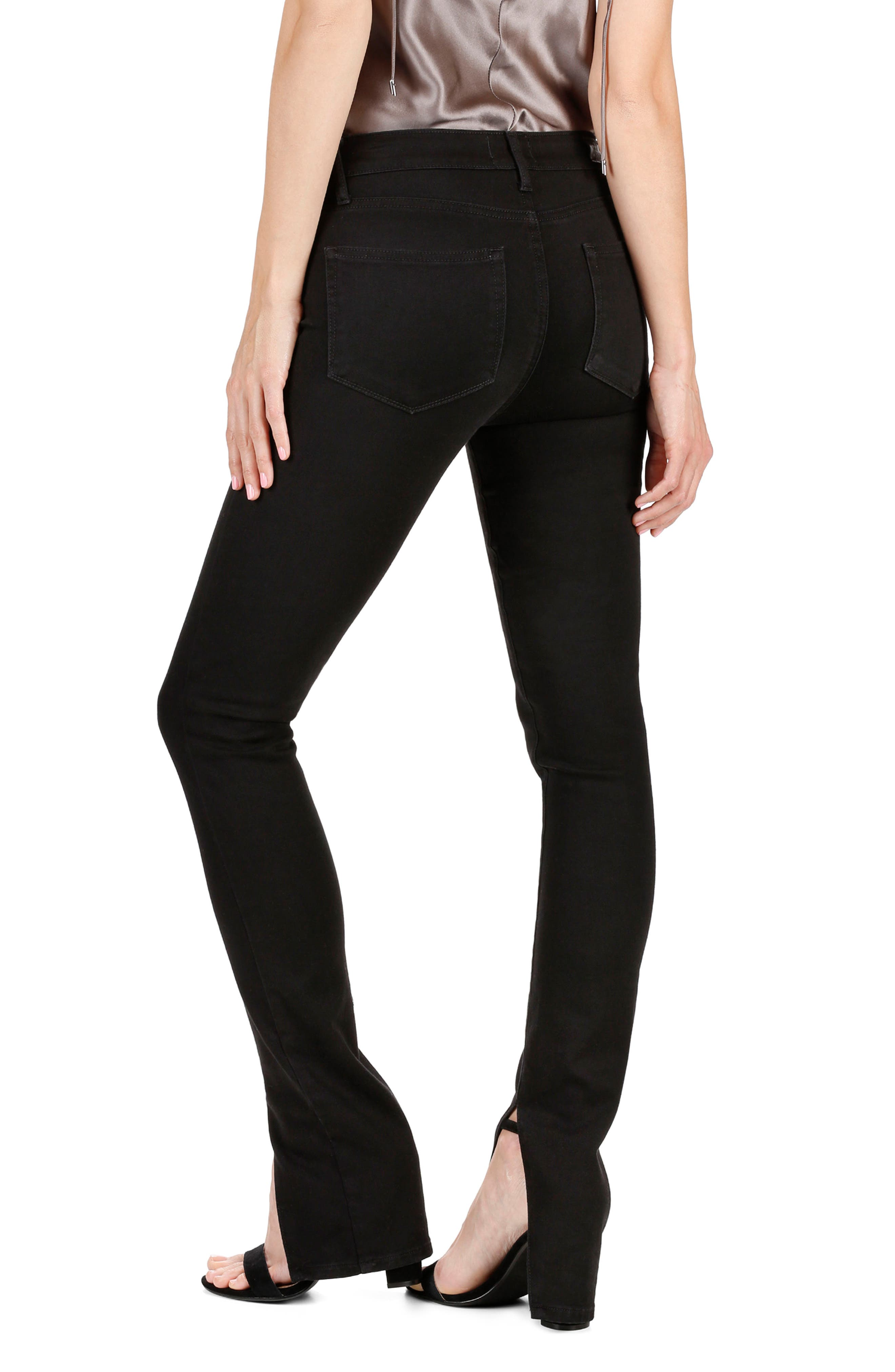 Rosie HW x PAIGE Constance Skinny Jeans,                             Alternate thumbnail 2, color,                             Onyx