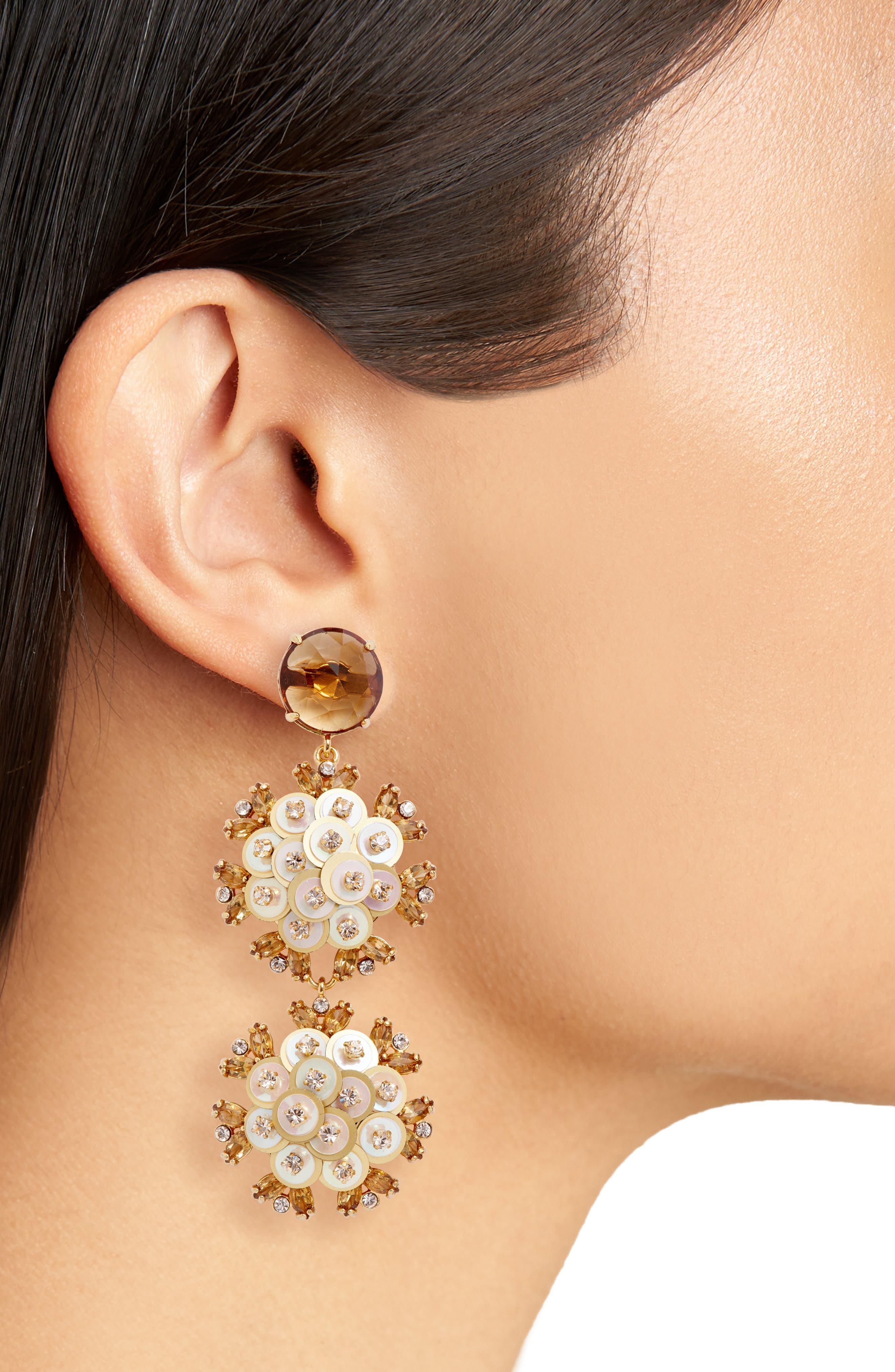 Alternate Image 2  - kate spade new york be bold triple drop earrings
