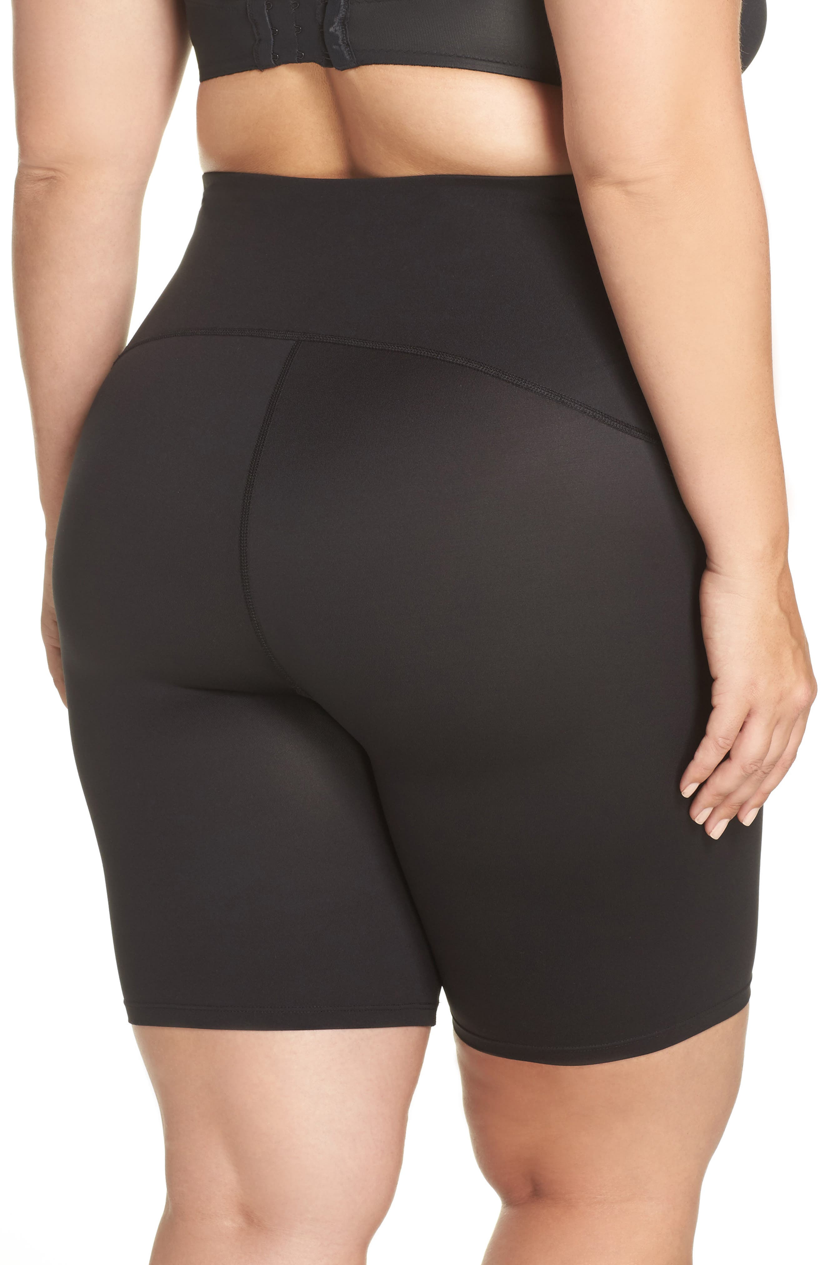 Alternate Image 2  - SPANX® Sport Compression Shorts (Plus Size)