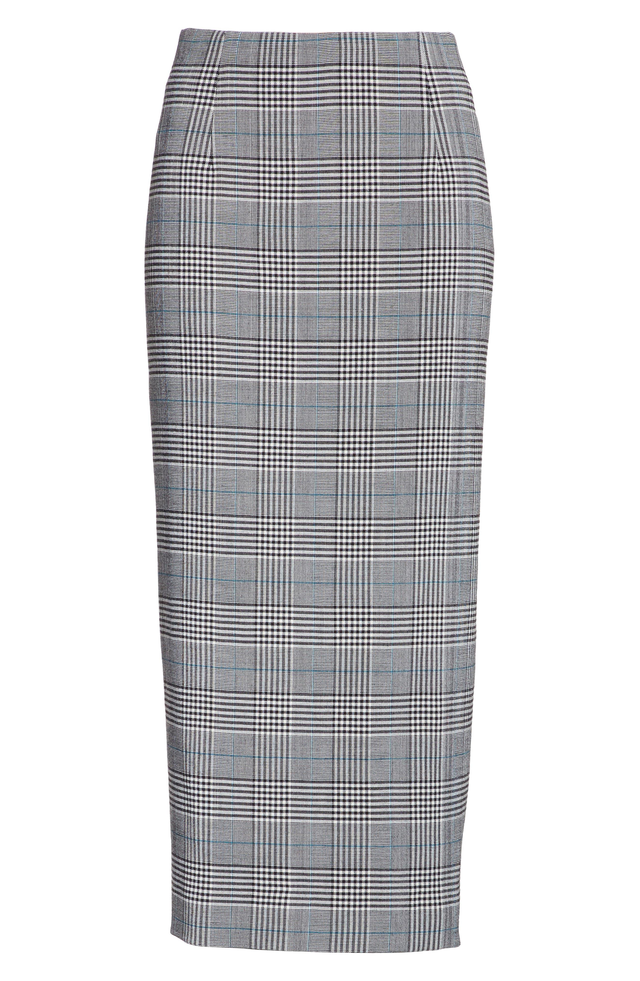 Alternate Image 6  - Victoria Beckham Prince of Wales High Waist Pencil Skirt